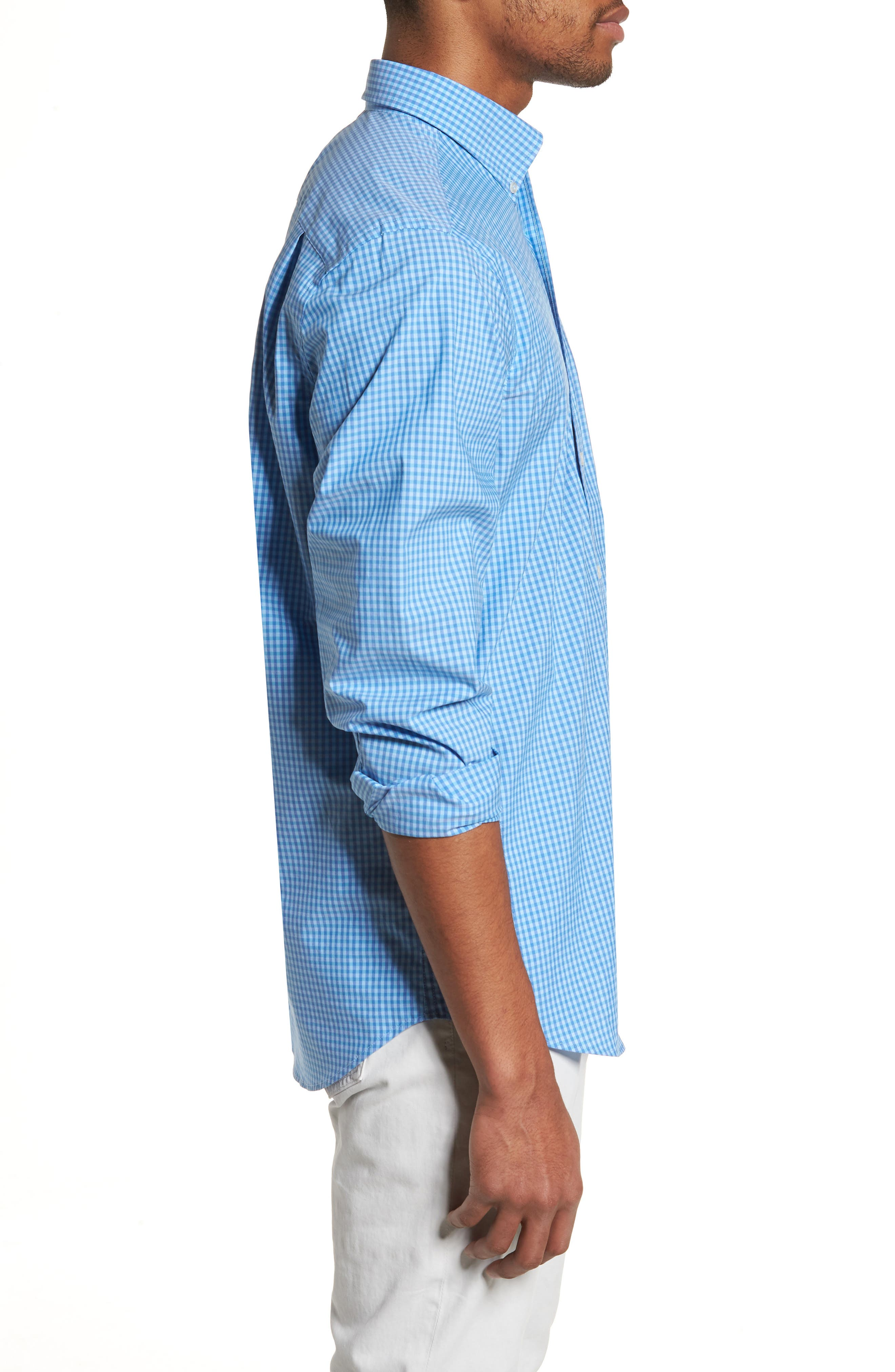 Camana Bay Regular Fit Check Stretch Sport Shirt,                             Alternate thumbnail 3, color,                             392