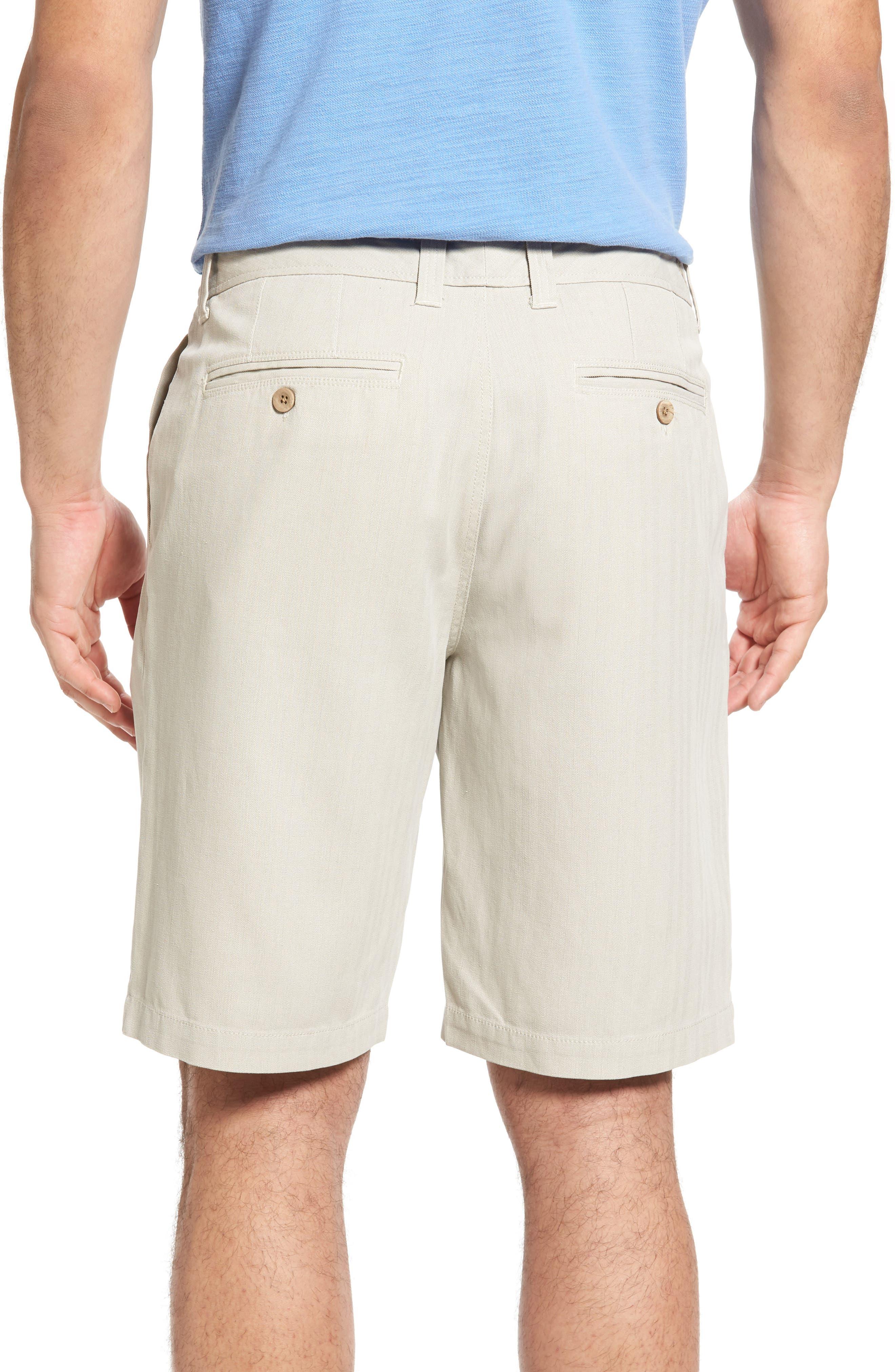 Havana Herringbone Silk Blend Chino Shorts,                             Alternate thumbnail 2, color,                             200