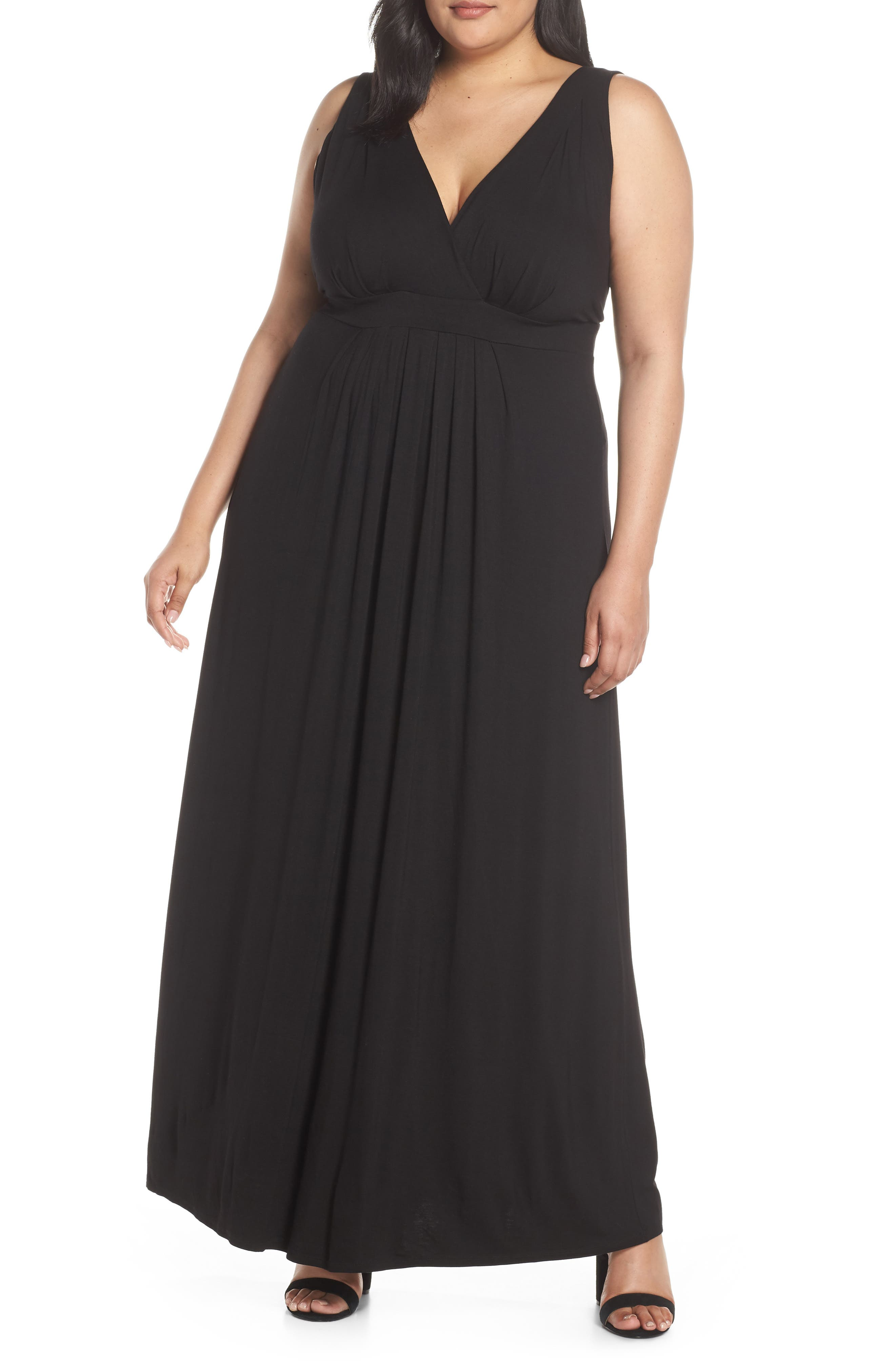 Plus Size Lemon Tart Chloe Maxi Dress, Black