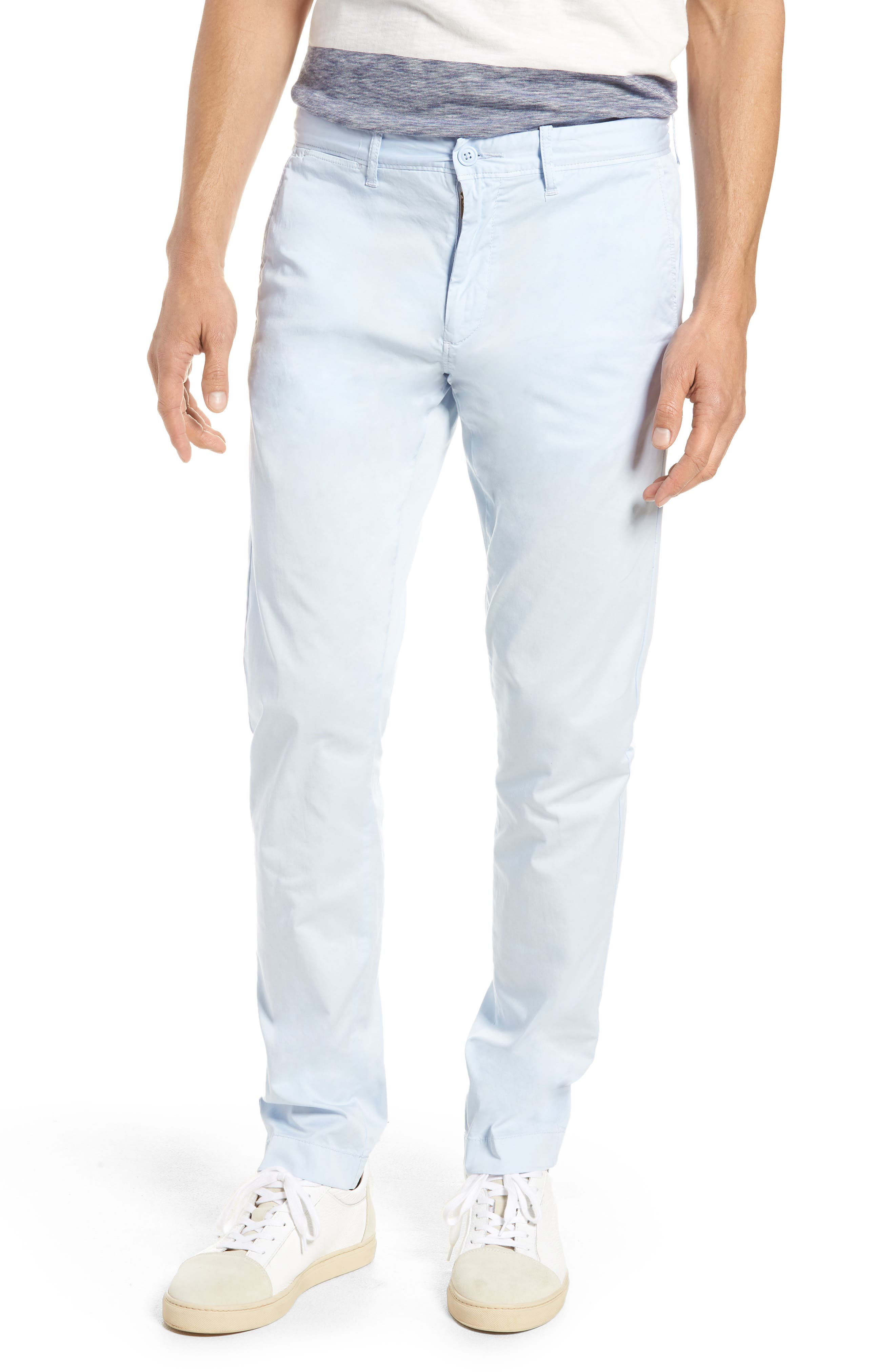 Slim Fit Garment Dyed Stretch Chinos,                             Main thumbnail 3, color,