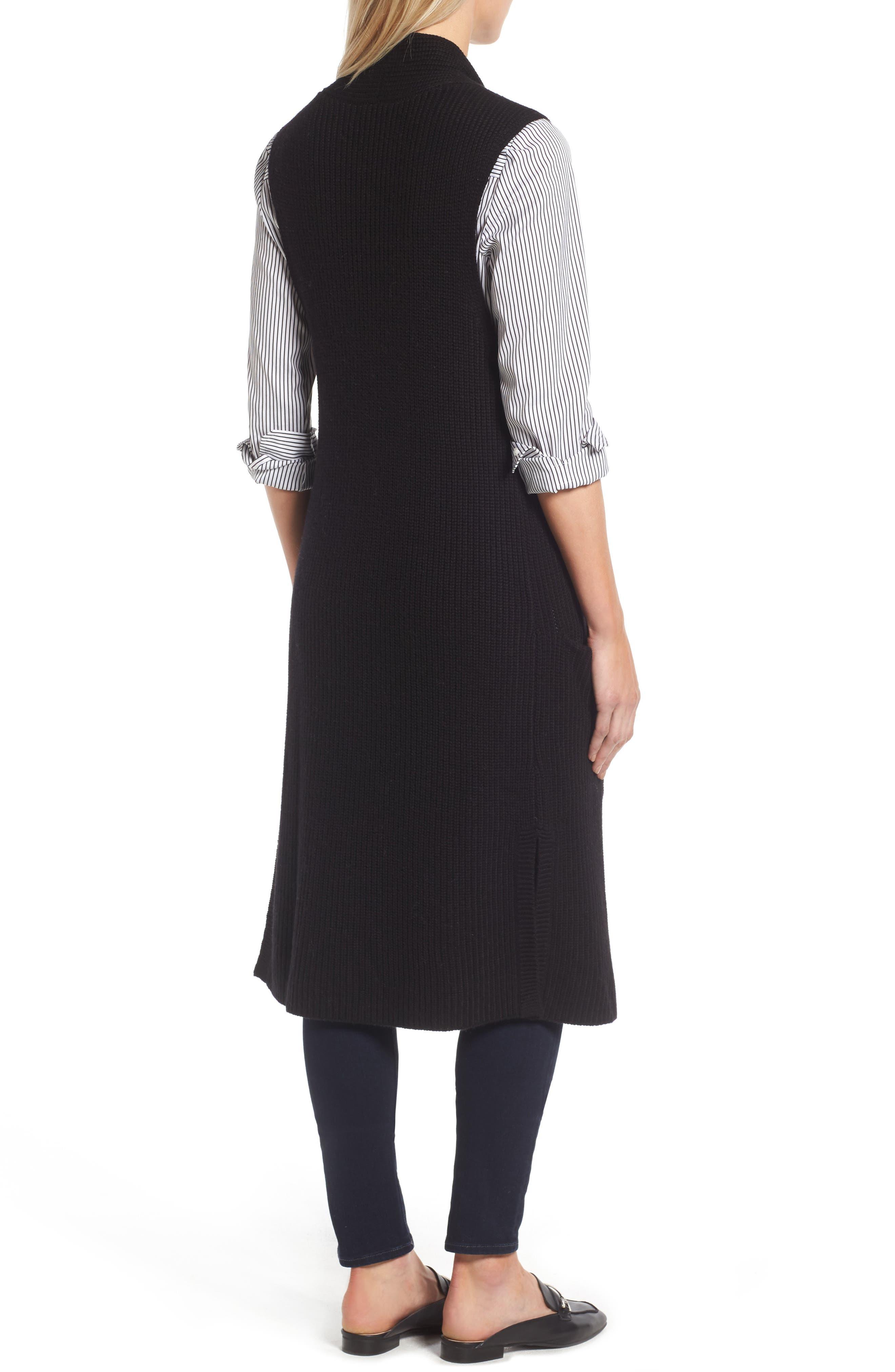 HALOGEN<SUP>®</SUP>,                             Long Knit Vest,                             Alternate thumbnail 2, color,                             001