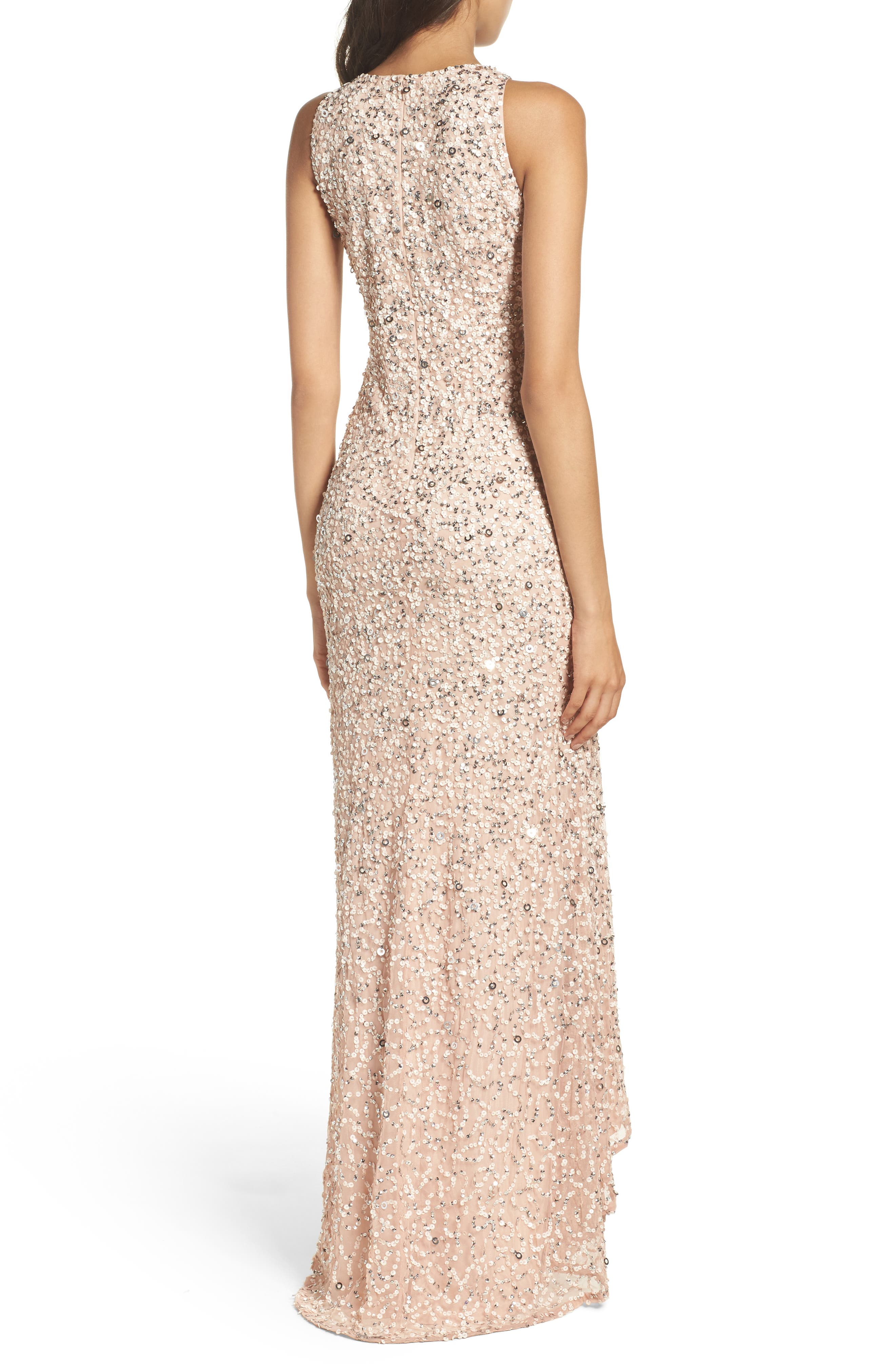 Sequin High/Low Gown,                             Alternate thumbnail 10, color,