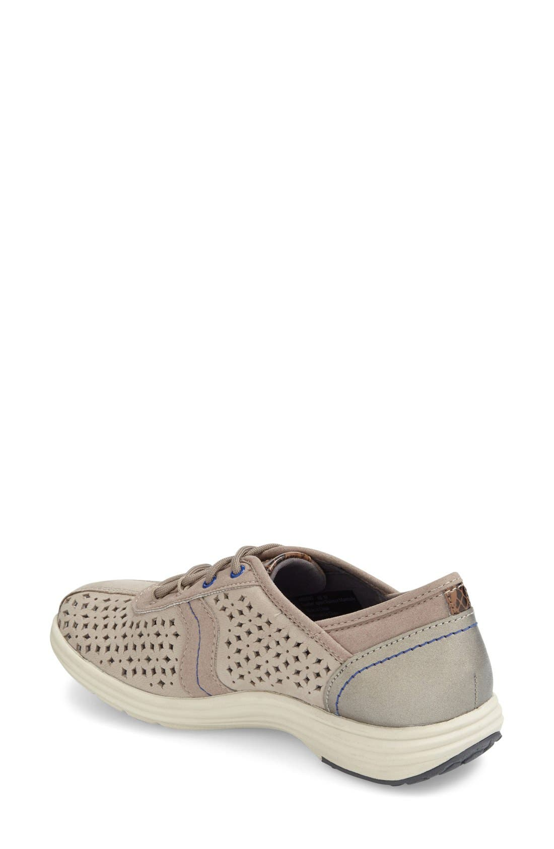 ARAVON,                             'Betty' Sneaker,                             Alternate thumbnail 2, color,                             GREY LEATHER
