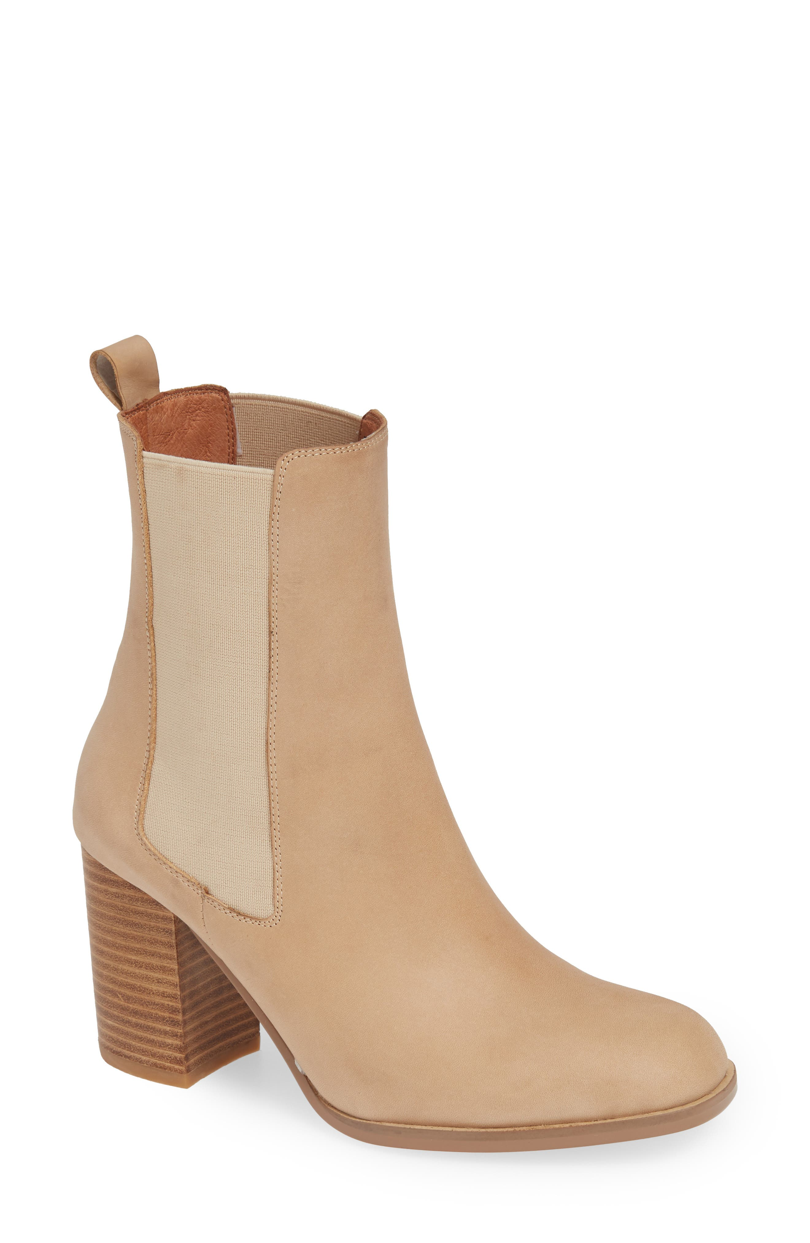 ALIAS MAE Nyala Chelsea Bootie in Natural Leather