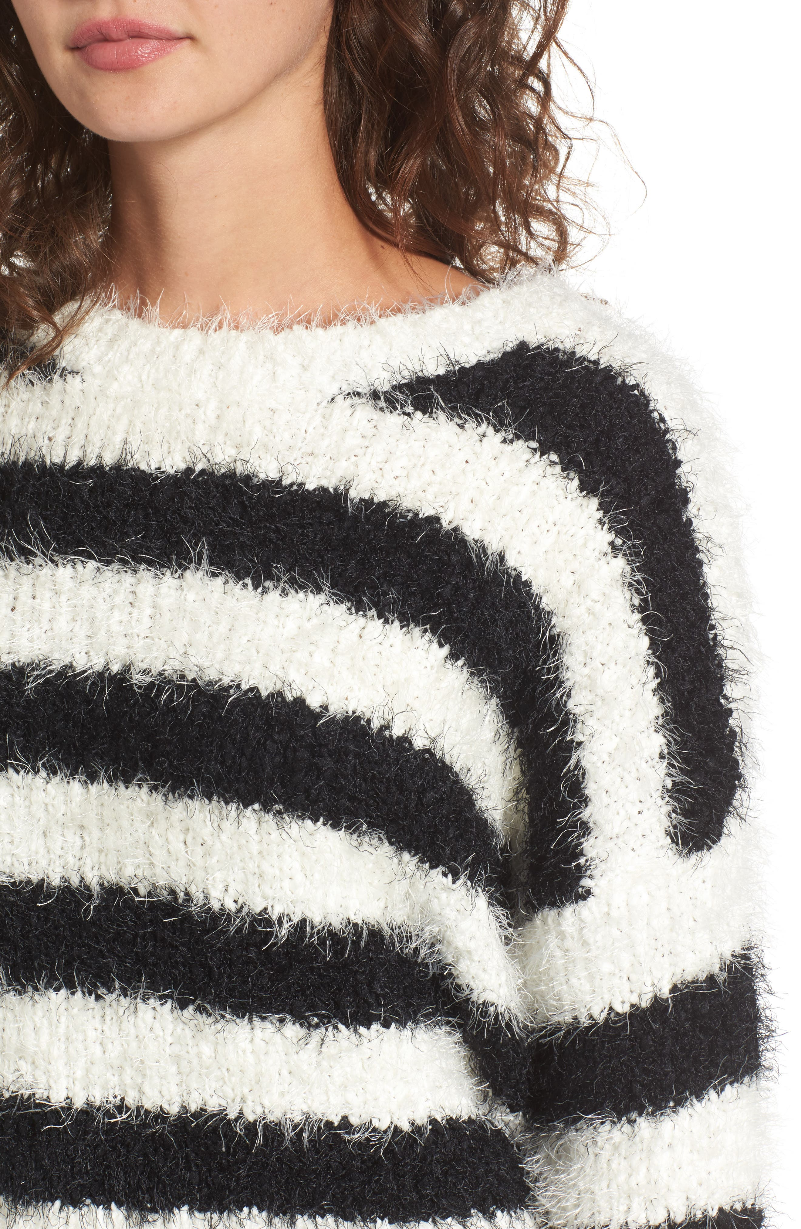 Stripe Slouchy Pullover,                             Alternate thumbnail 4, color,                             907