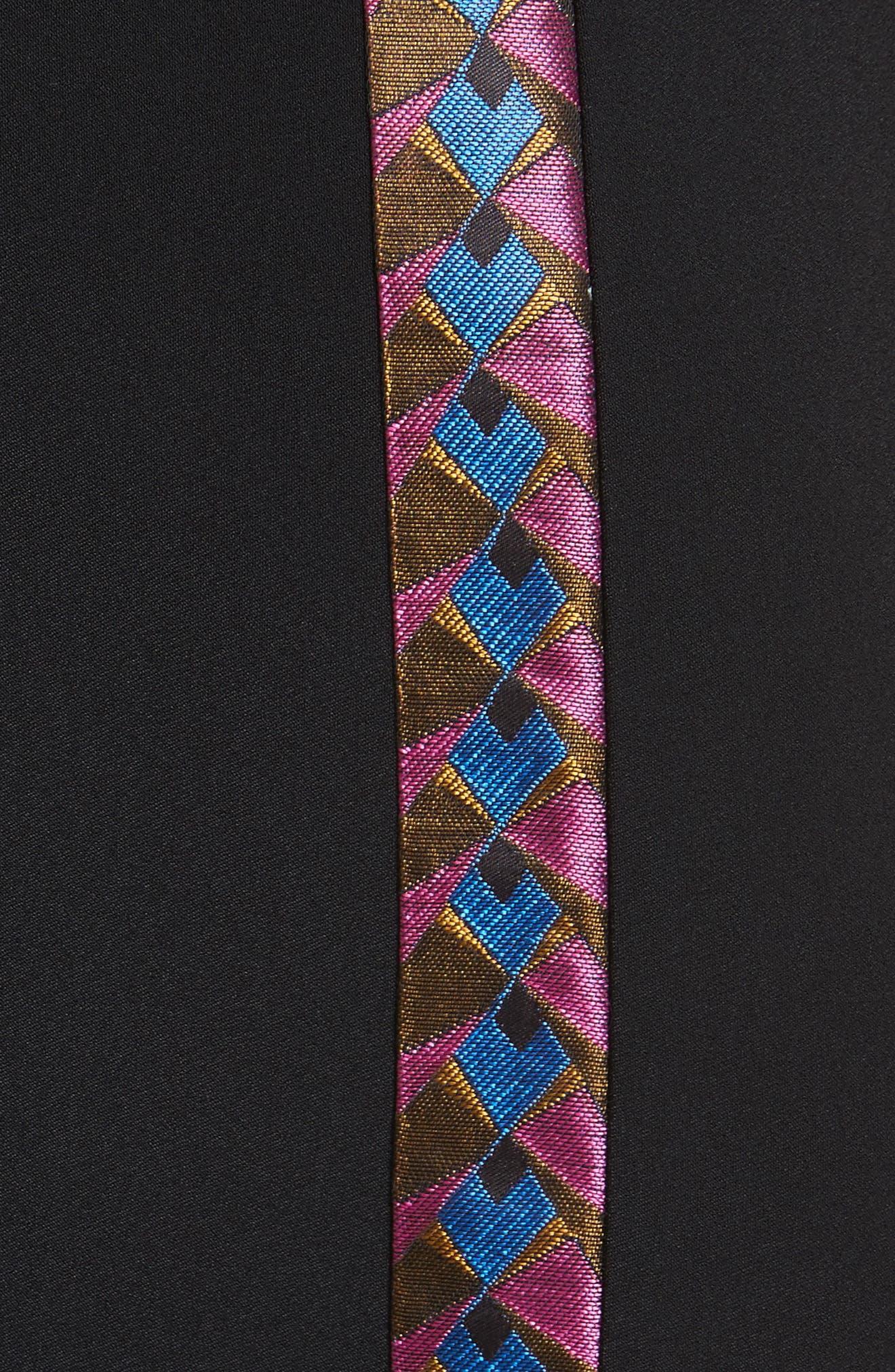 Flutter Sleeve Sheath Dress,                             Alternate thumbnail 5, color,                             001