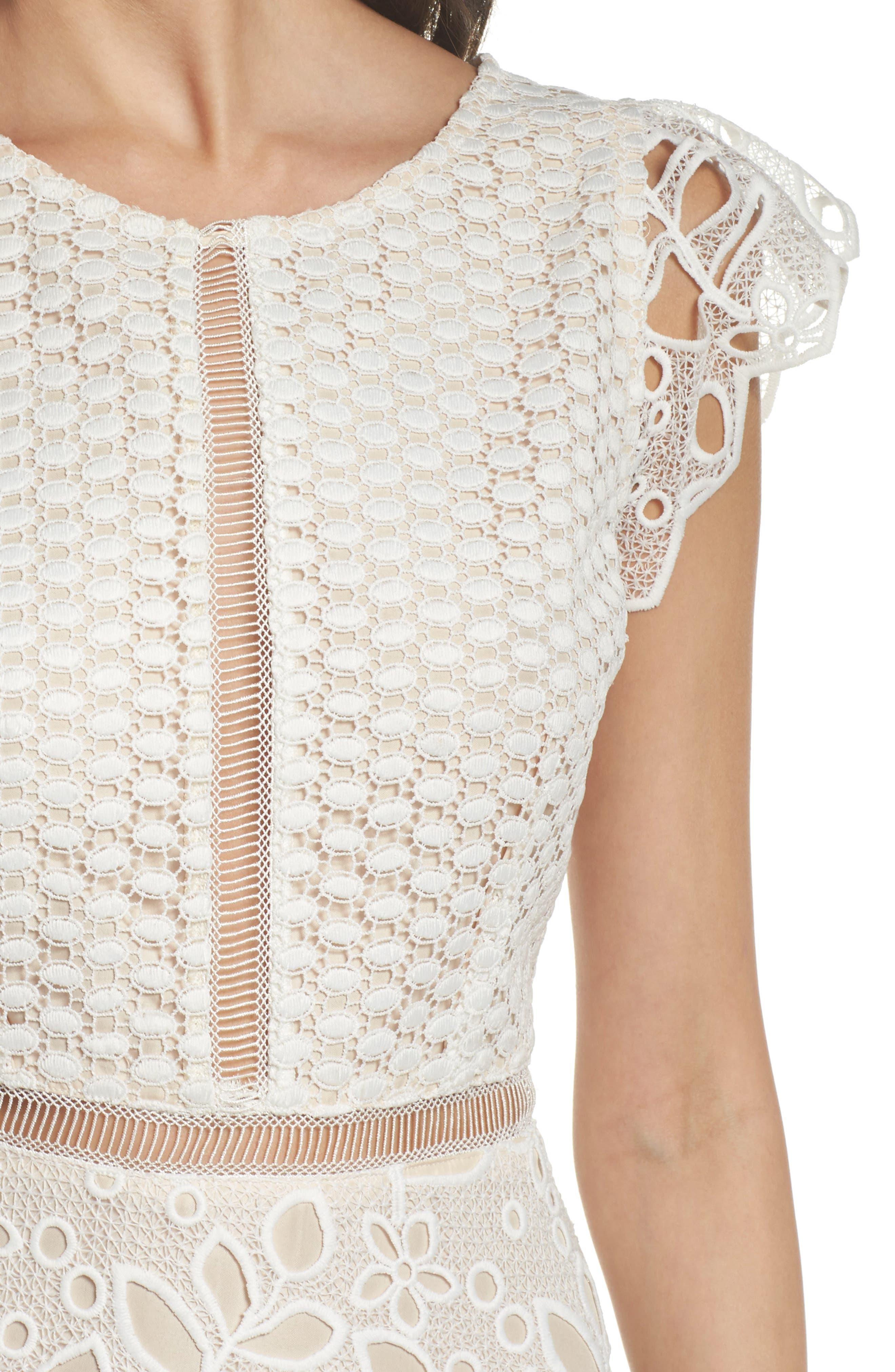 Ariane Mix Lace Dress,                             Alternate thumbnail 7, color,
