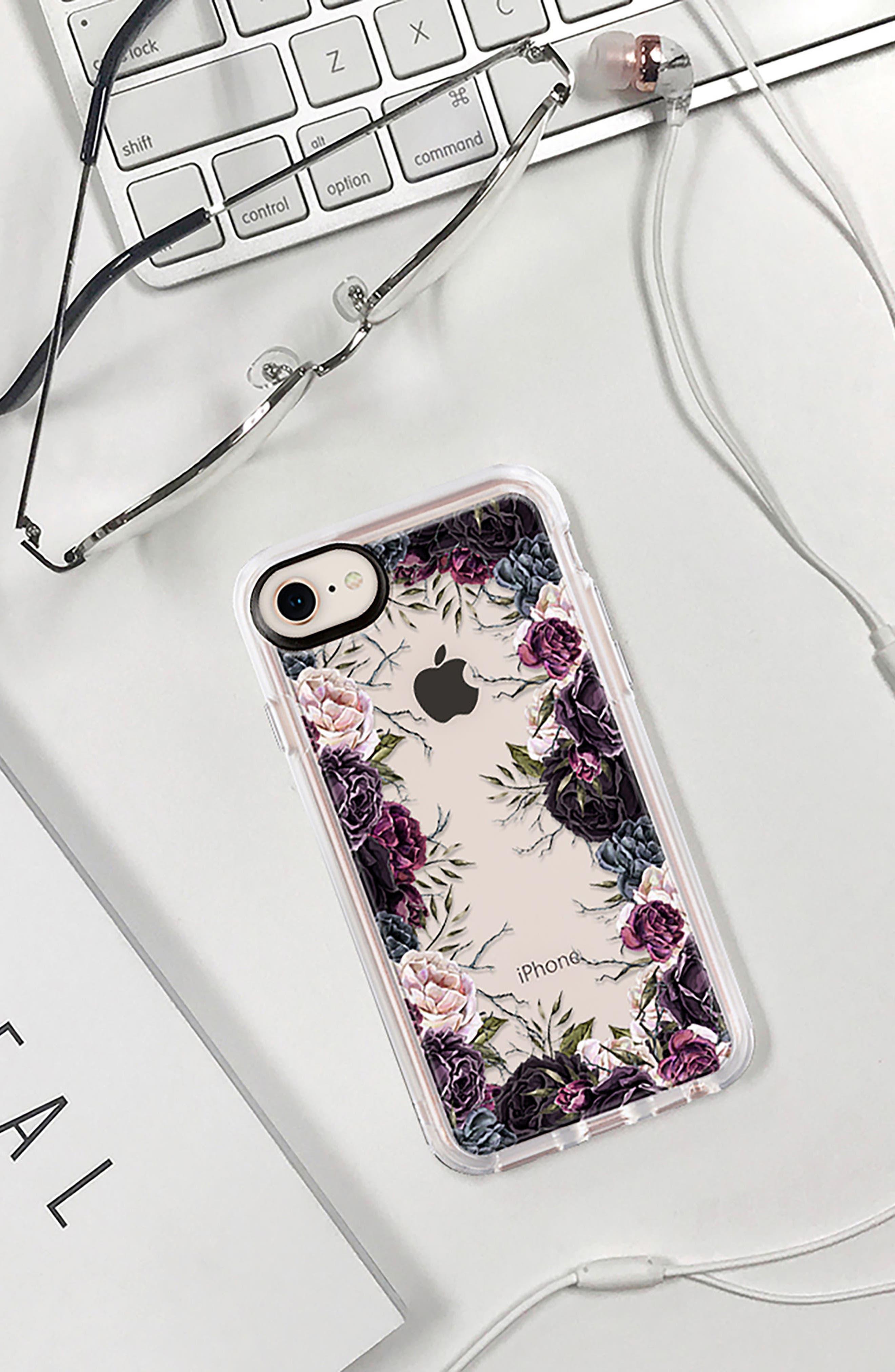 My Secret Garden Transparent iPhone 7/8 & 7/8 Plus Case,                             Alternate thumbnail 8, color,                             PURPLE
