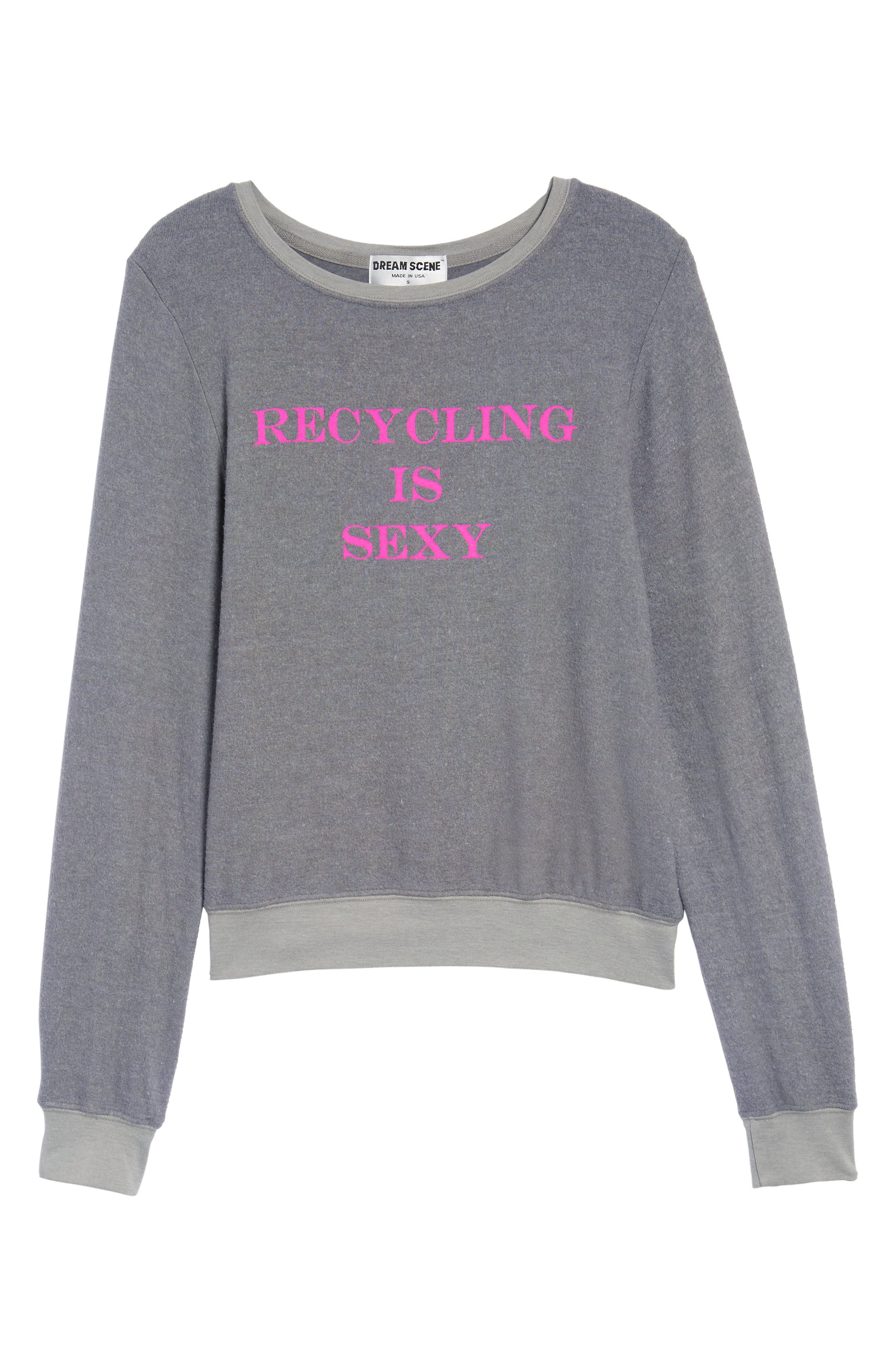 Recycling is Sexy Sweatshirt,                             Alternate thumbnail 6, color,