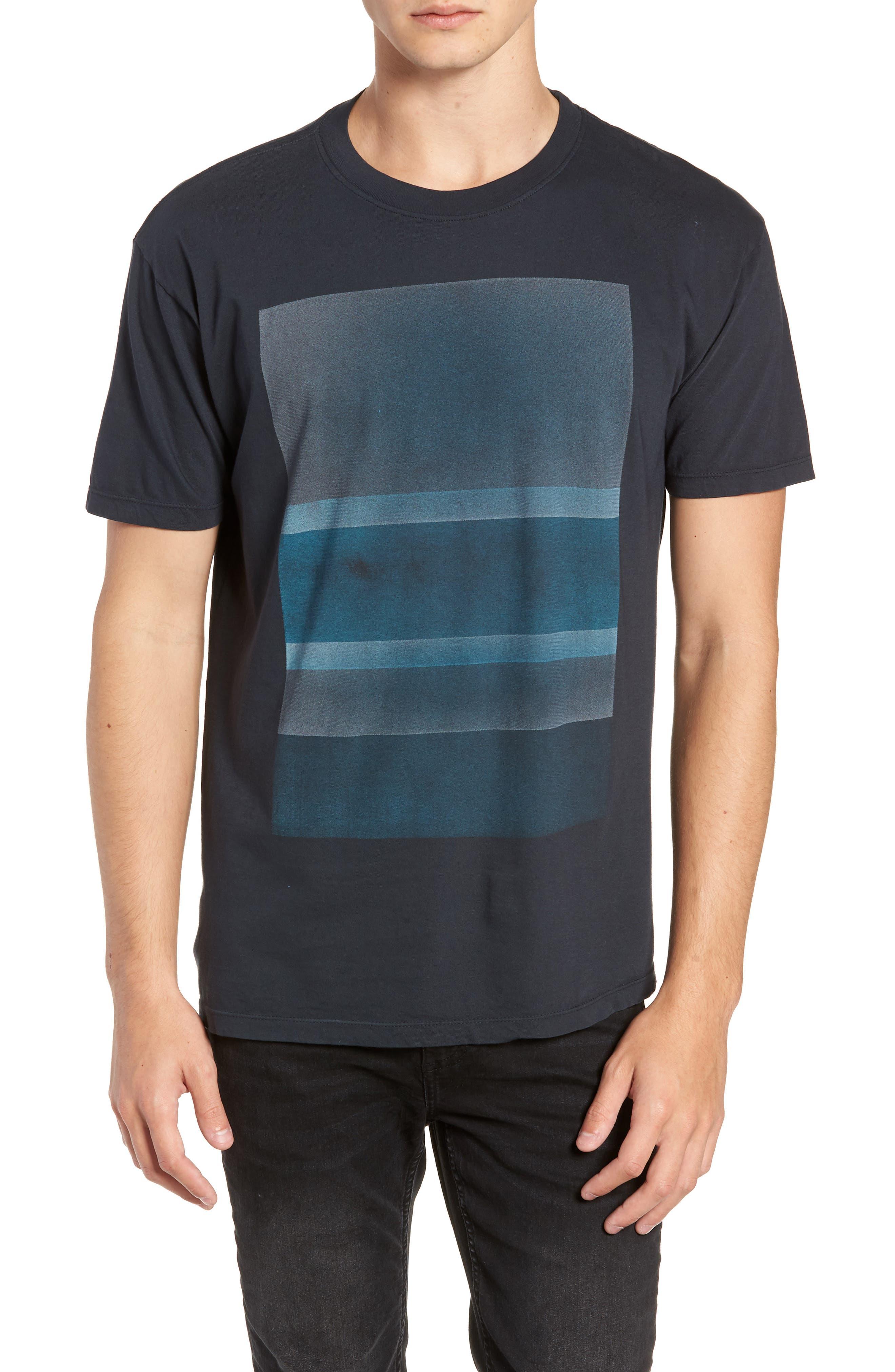 Motion Graphic T-Shirt, Main, color, BLACK