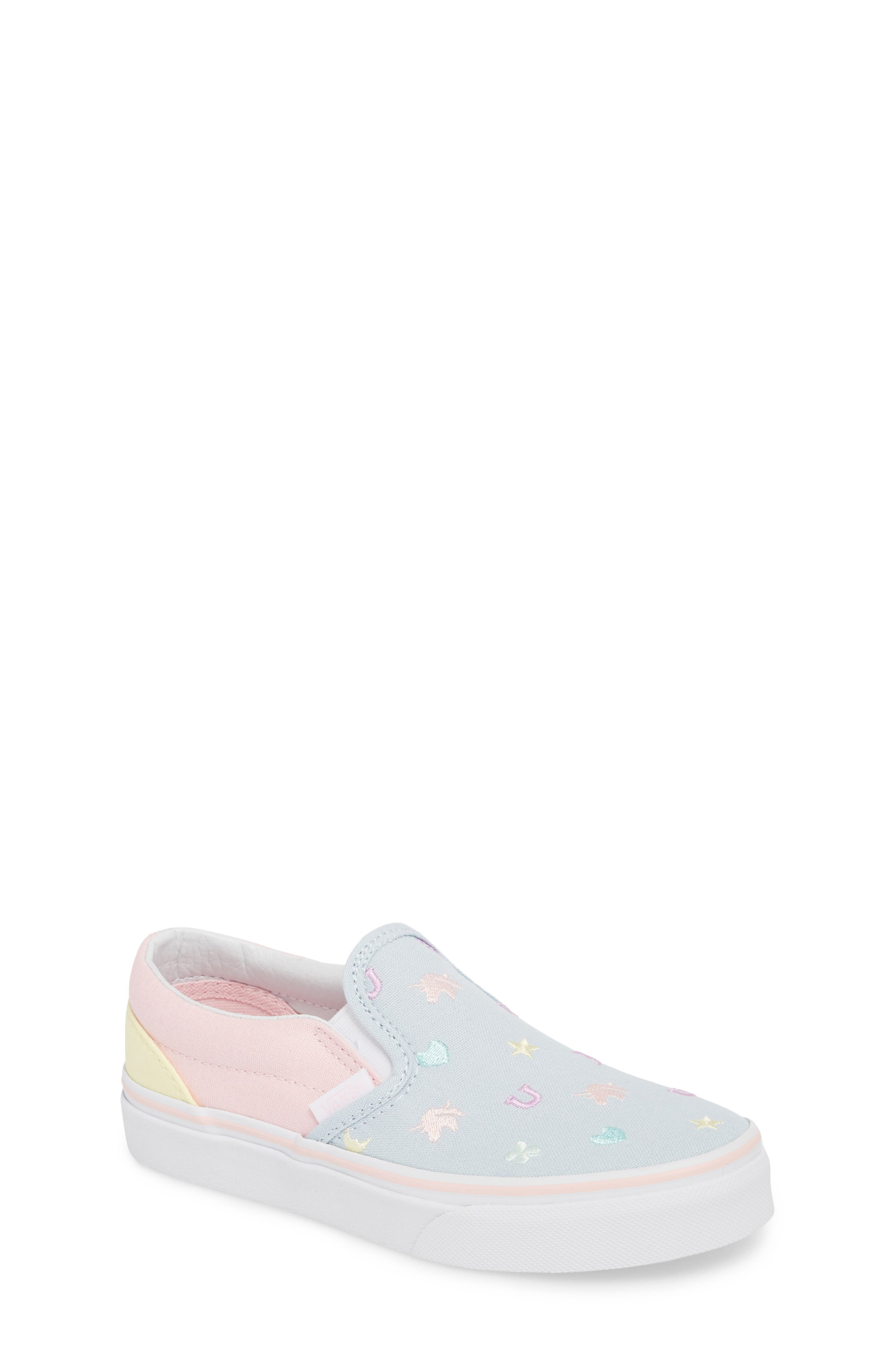 Classic Slip-On,                             Main thumbnail 1, color,                             EMBROIDERED MULTI CHARMS