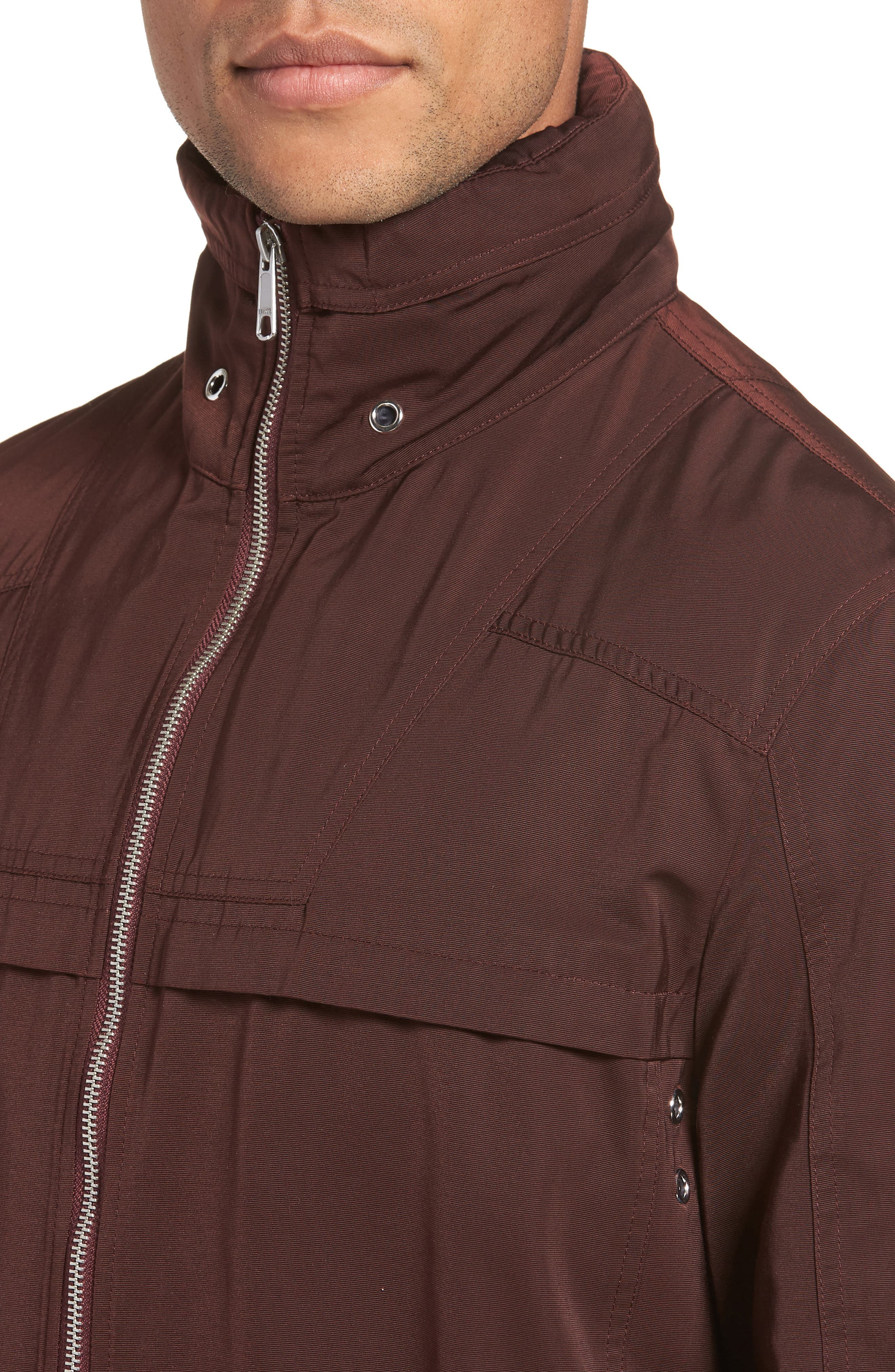 Zip Front Regular Fit Jacket,                             Alternate thumbnail 4, color,                             930