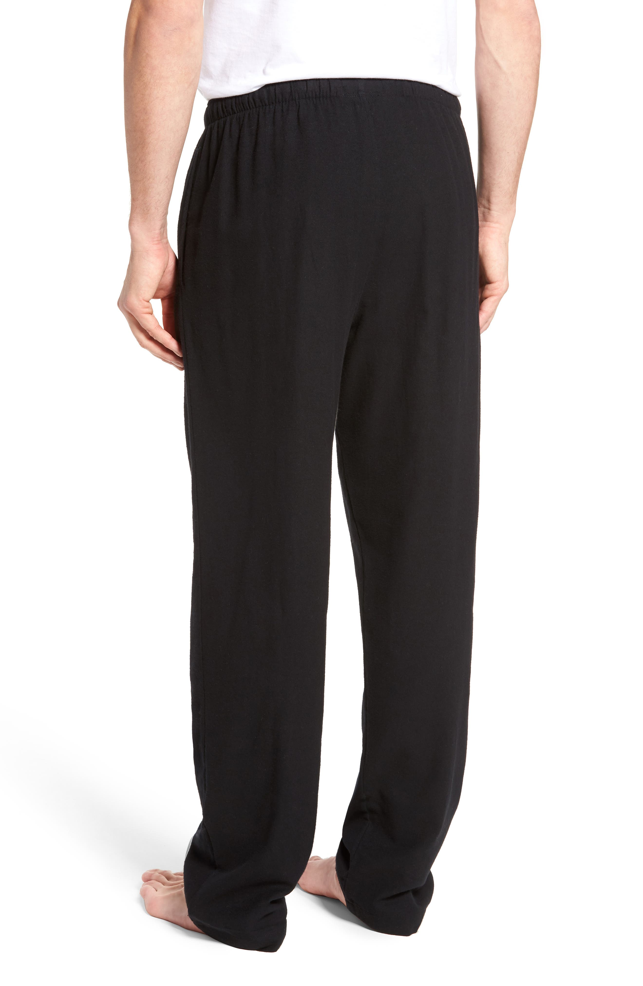 Flannel Pajama Pants,                             Alternate thumbnail 2, color,                             001
