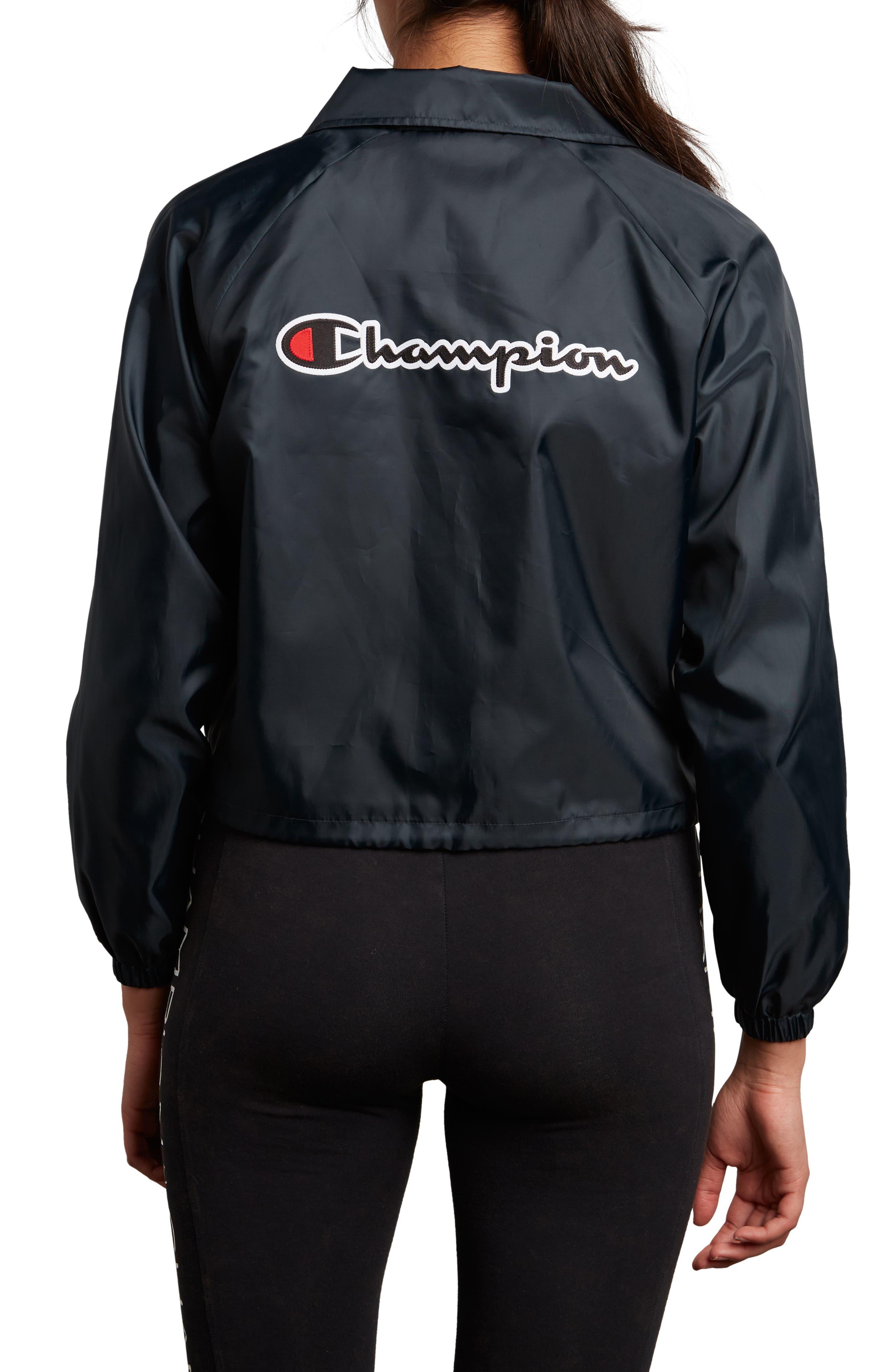 Coaches Crop Jacket,                             Alternate thumbnail 2, color,                             001