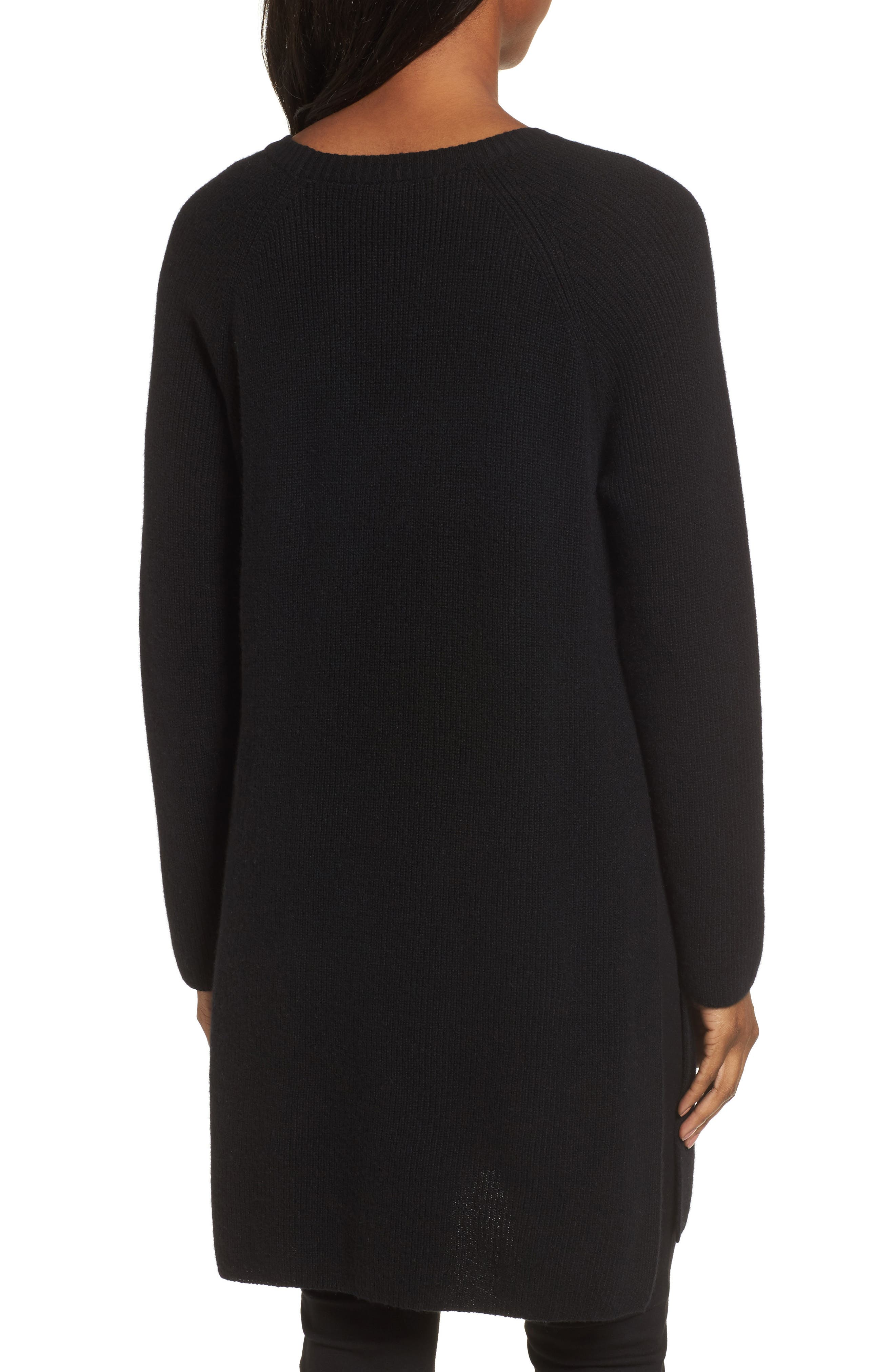 Cashmere Tunic Sweater,                             Alternate thumbnail 2, color,                             001