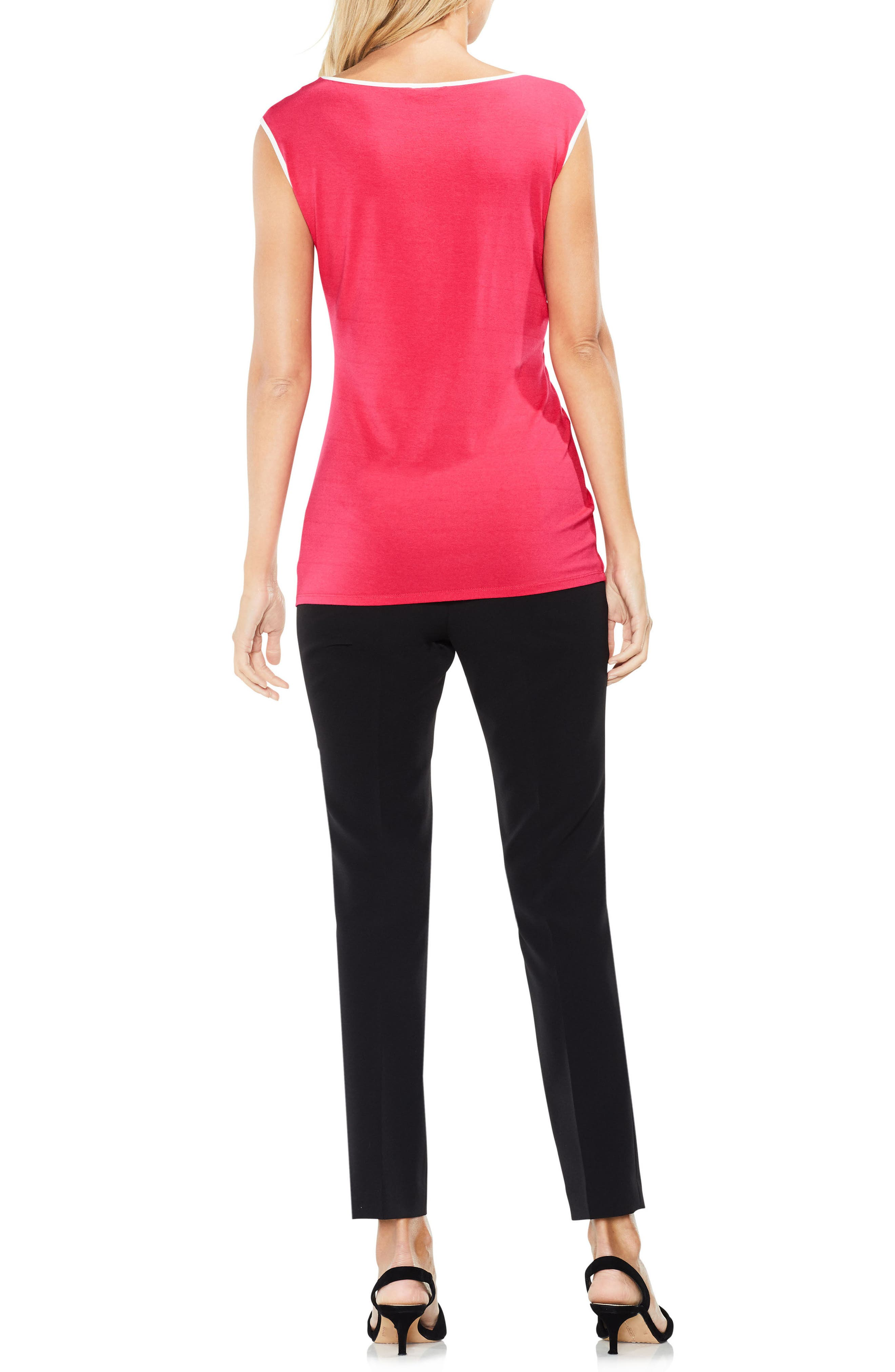 Side Ruched Top,                             Alternate thumbnail 4, color,