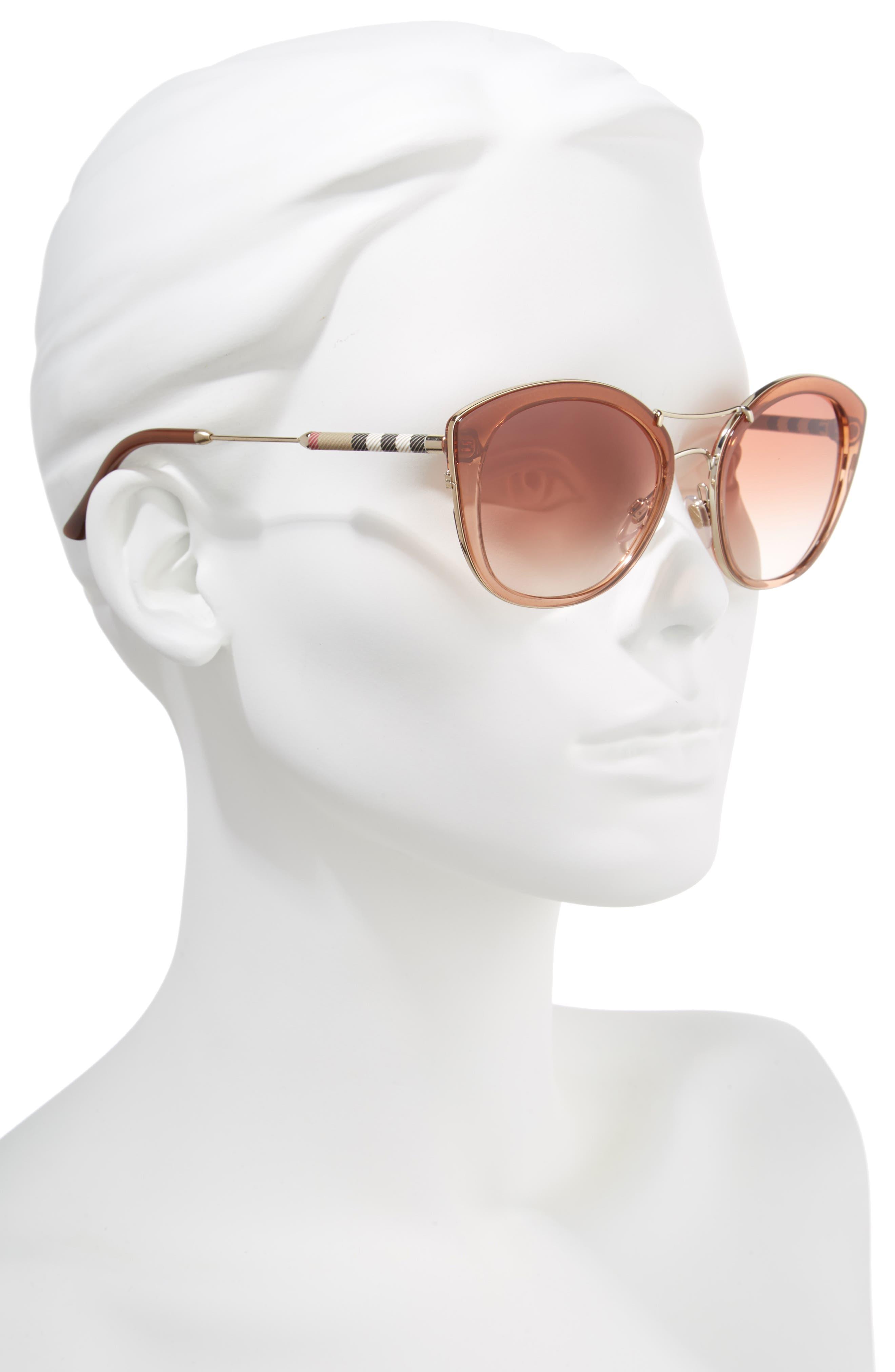 53mm Gradient Sunglasses,                             Alternate thumbnail 2, color,                             BROWN GRADIENT