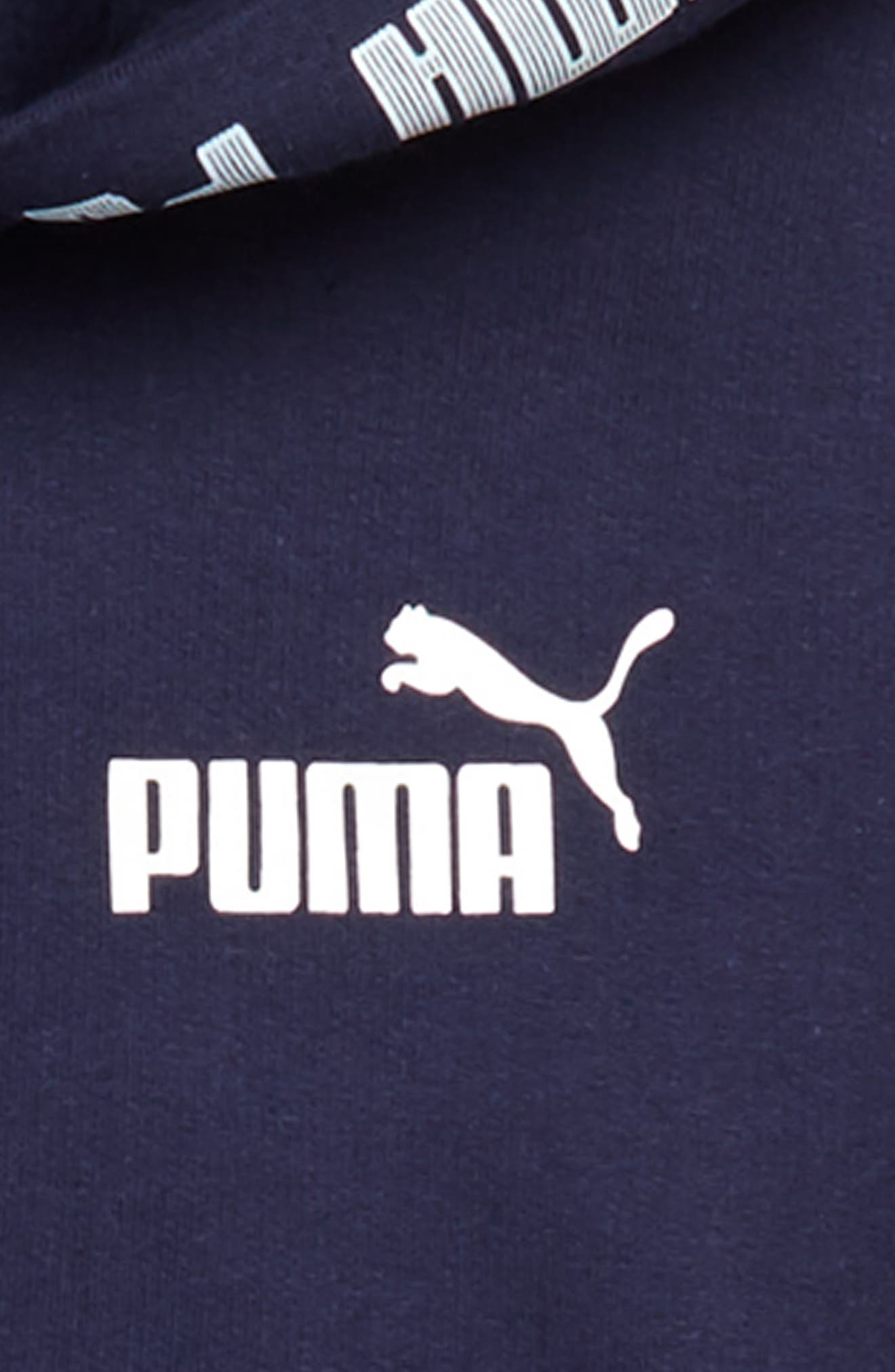 PUMA,                             Fleece Zip Hoodie,                             Alternate thumbnail 2, color,                             PEACOAT