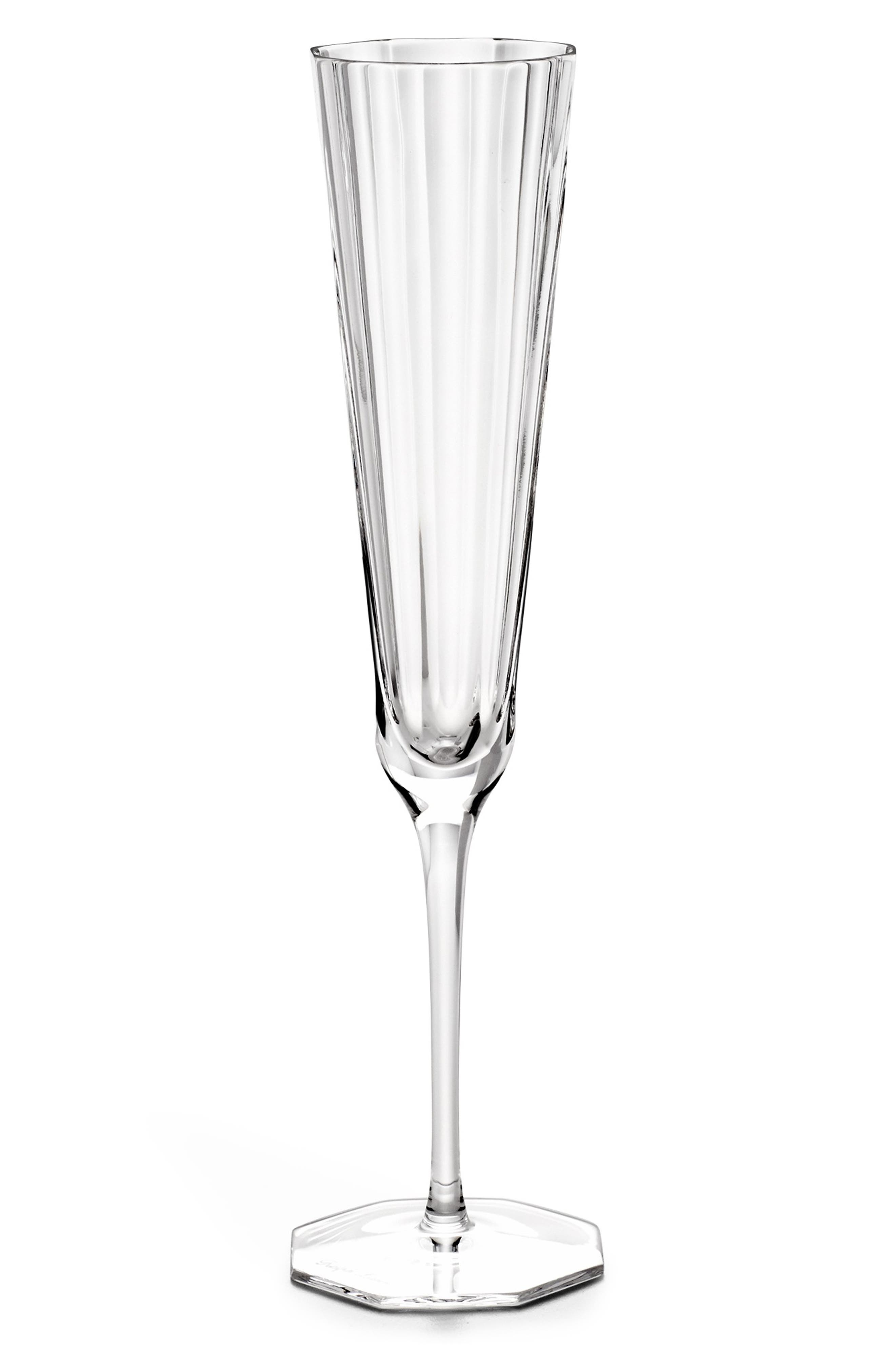 Isabel Lead Crystal Flute,                             Main thumbnail 1, color,                             CLEAR