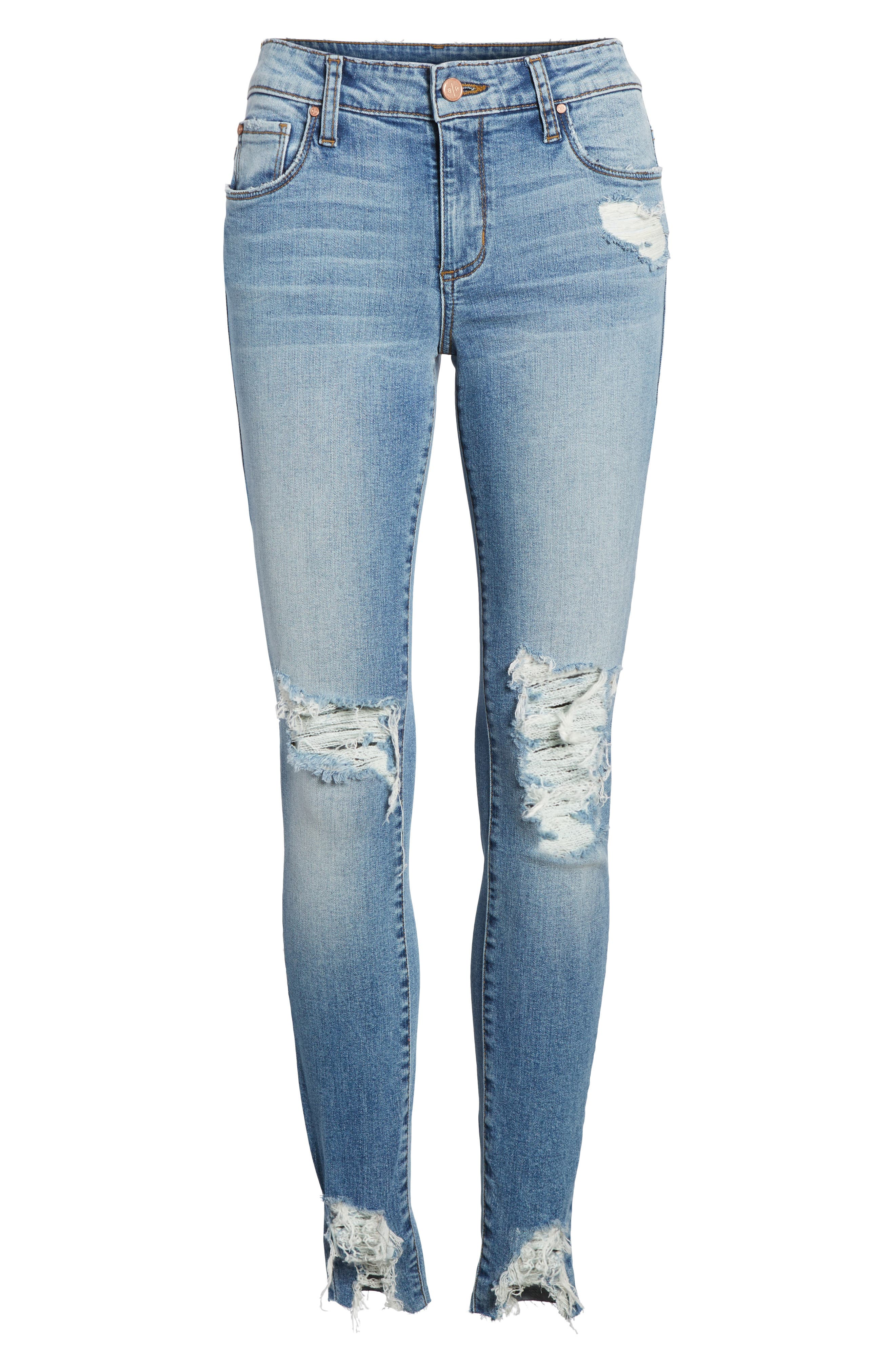 Ripped Skinny Jeans,                             Alternate thumbnail 7, color,                             420