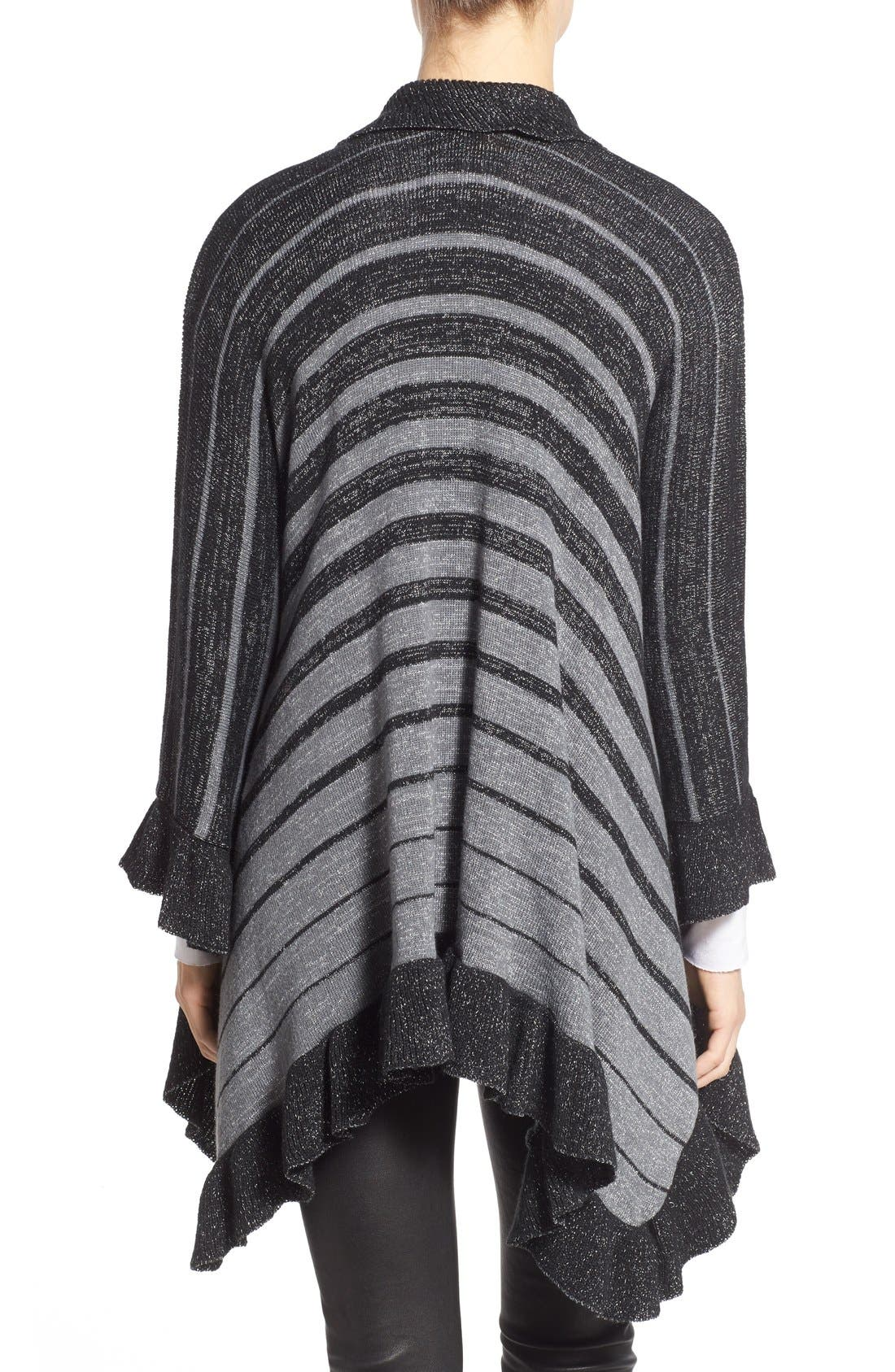 Stripe Shawl,                             Alternate thumbnail 2, color,                             001