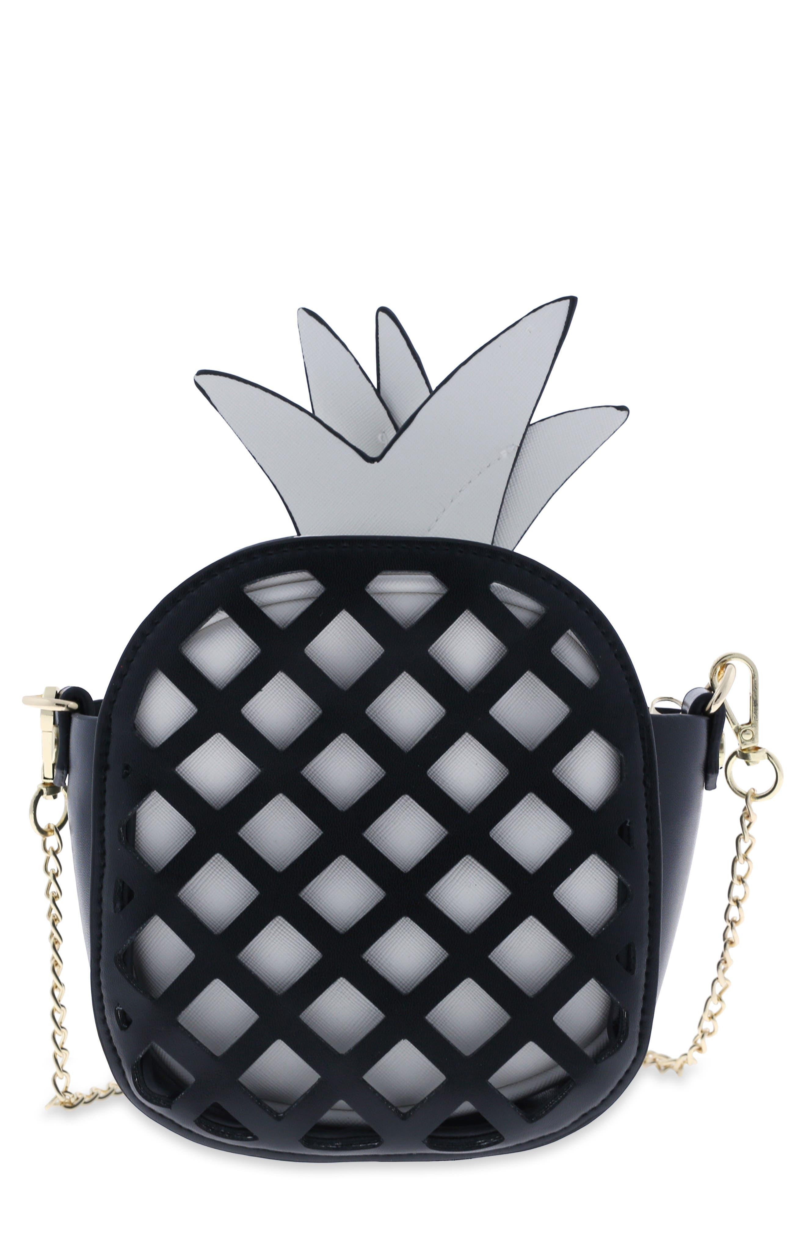 Cutout Pineapple Crossbody Bag,                             Main thumbnail 1, color,                             002