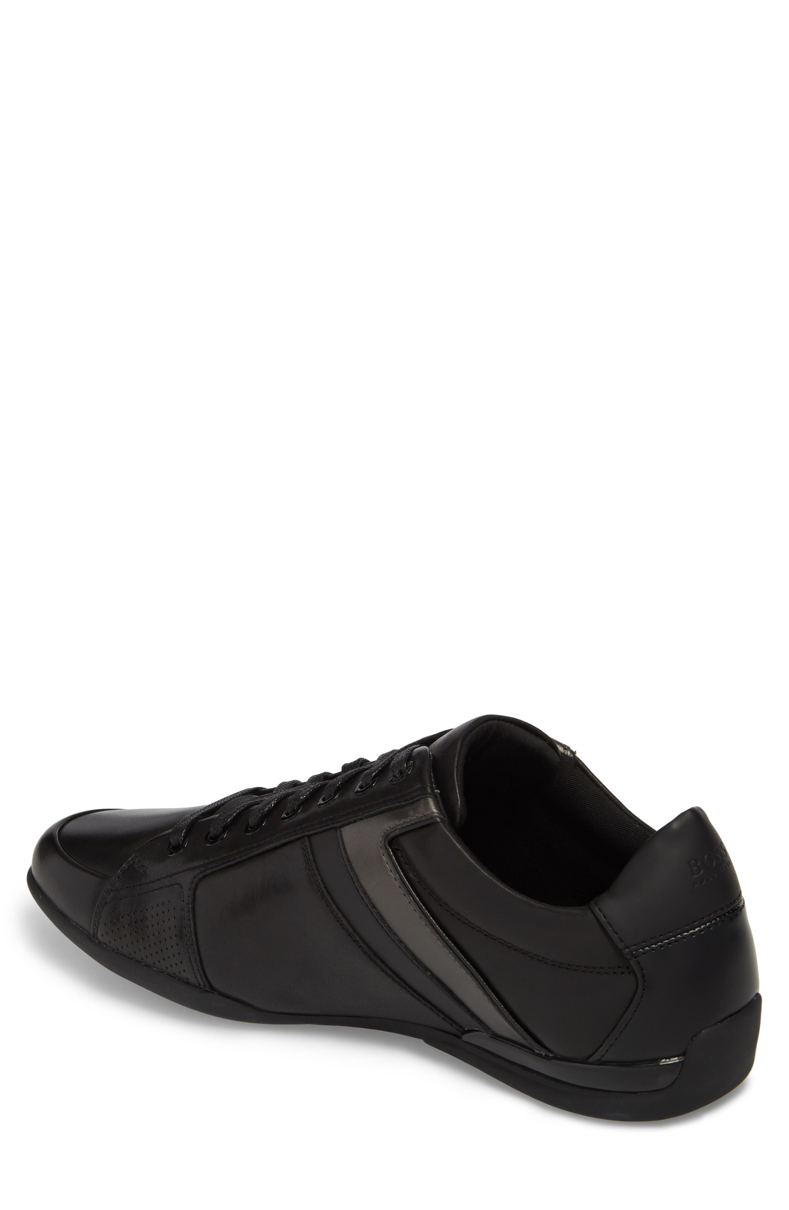 Space Lowp Lux Sneaker,                             Alternate thumbnail 2, color,                             BLACK LEATHER