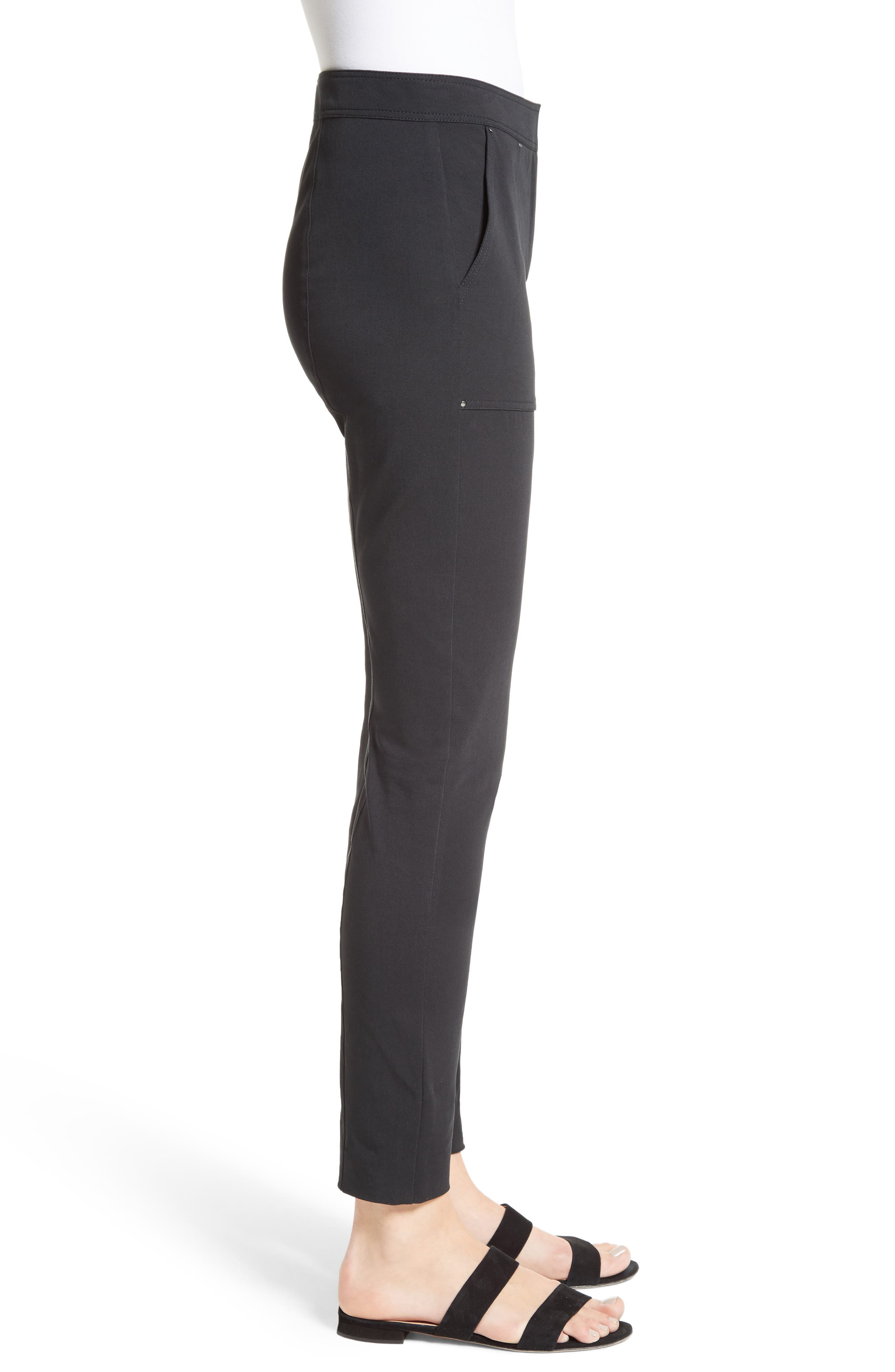 Fine Stretch Twill Skinny Pants,                             Alternate thumbnail 3, color,                             001