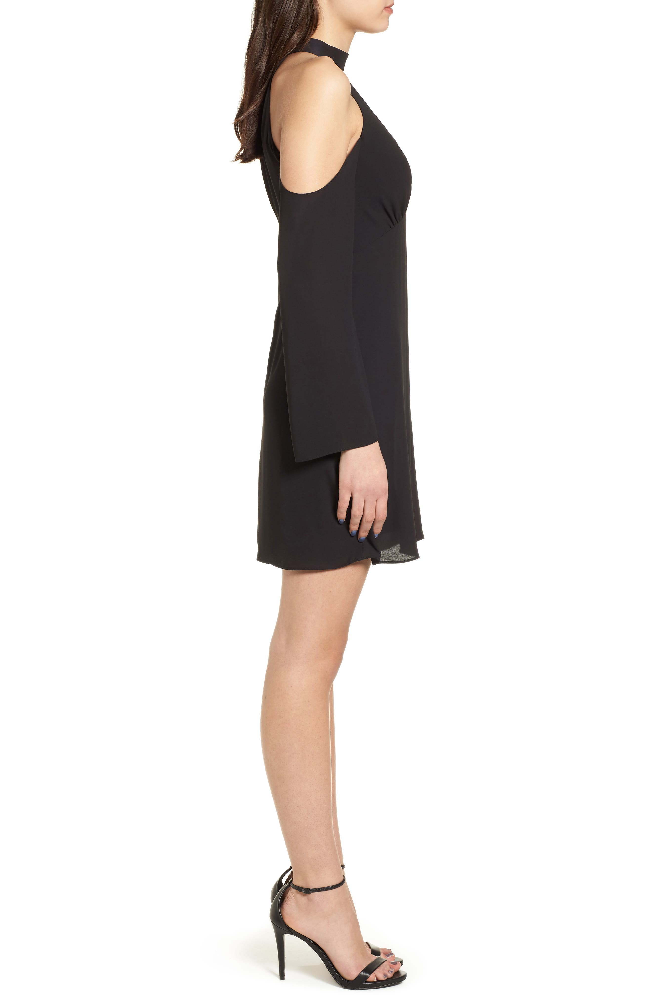 Daikon Cold Shoulder Dress,                             Alternate thumbnail 3, color,                             001