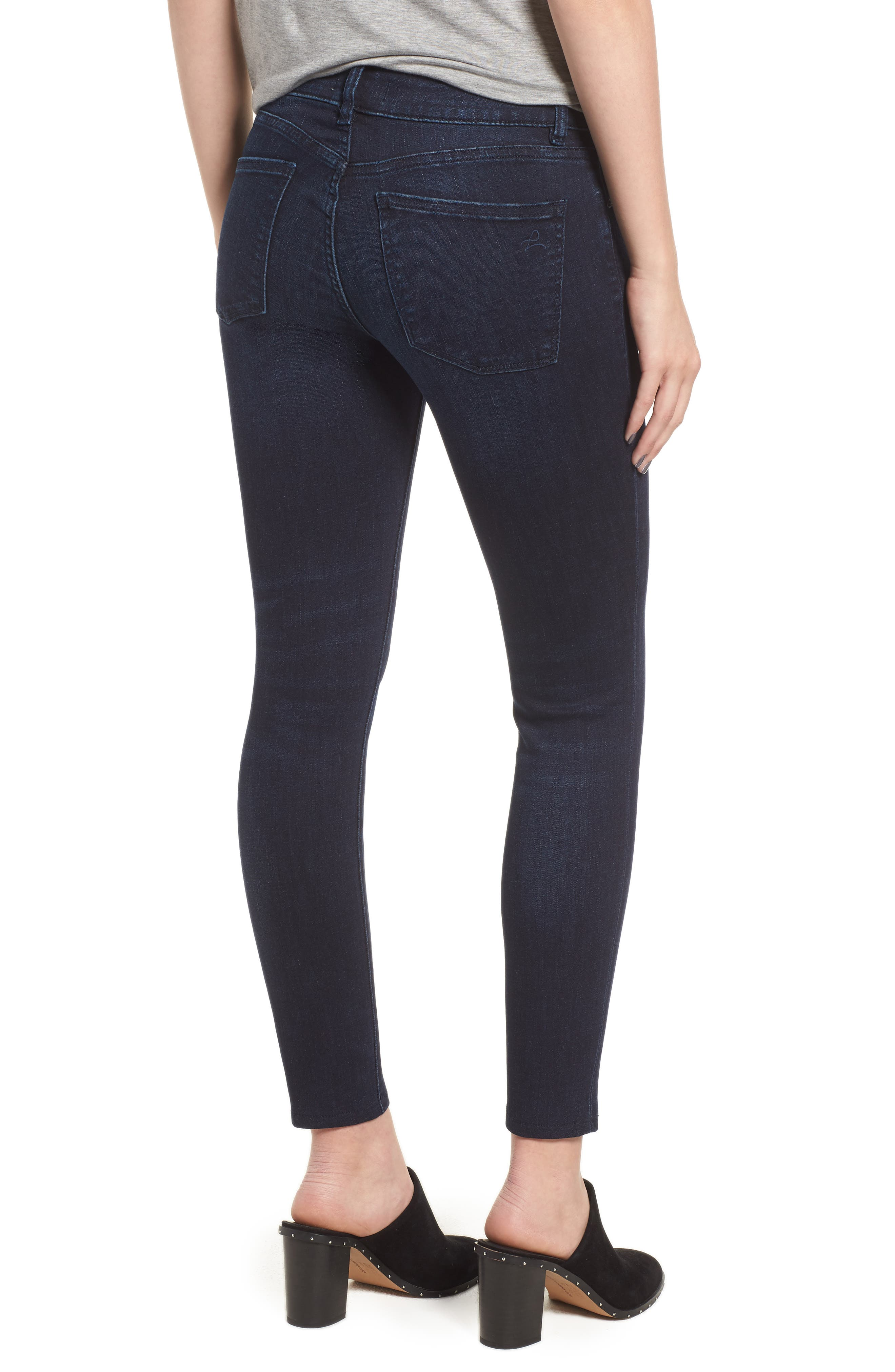 Emma Low Rise Ankle Skinny Jeans,                             Alternate thumbnail 2, color,                             NICHOLSON