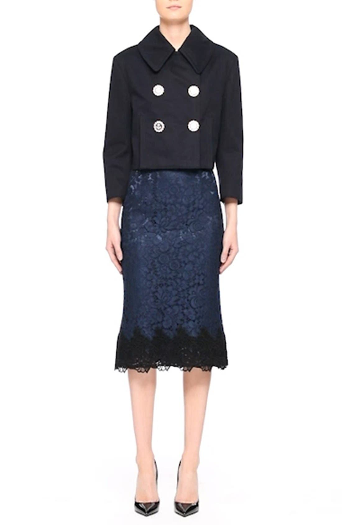 Lace Pencil Skirt,                             Alternate thumbnail 7, color,