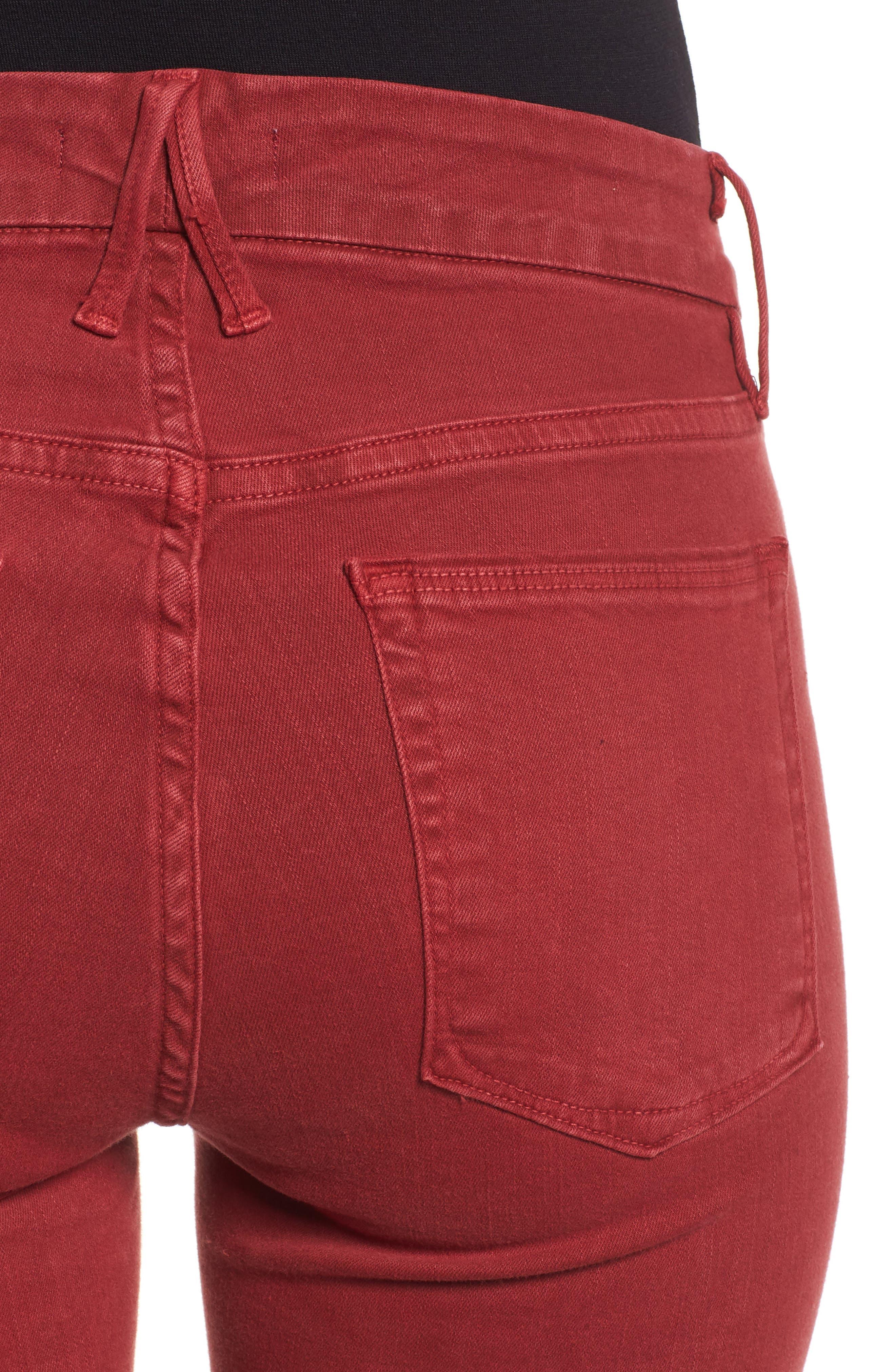 Good Legs Raw Edge Crop Skinny Jeans,                             Alternate thumbnail 4, color,                             601