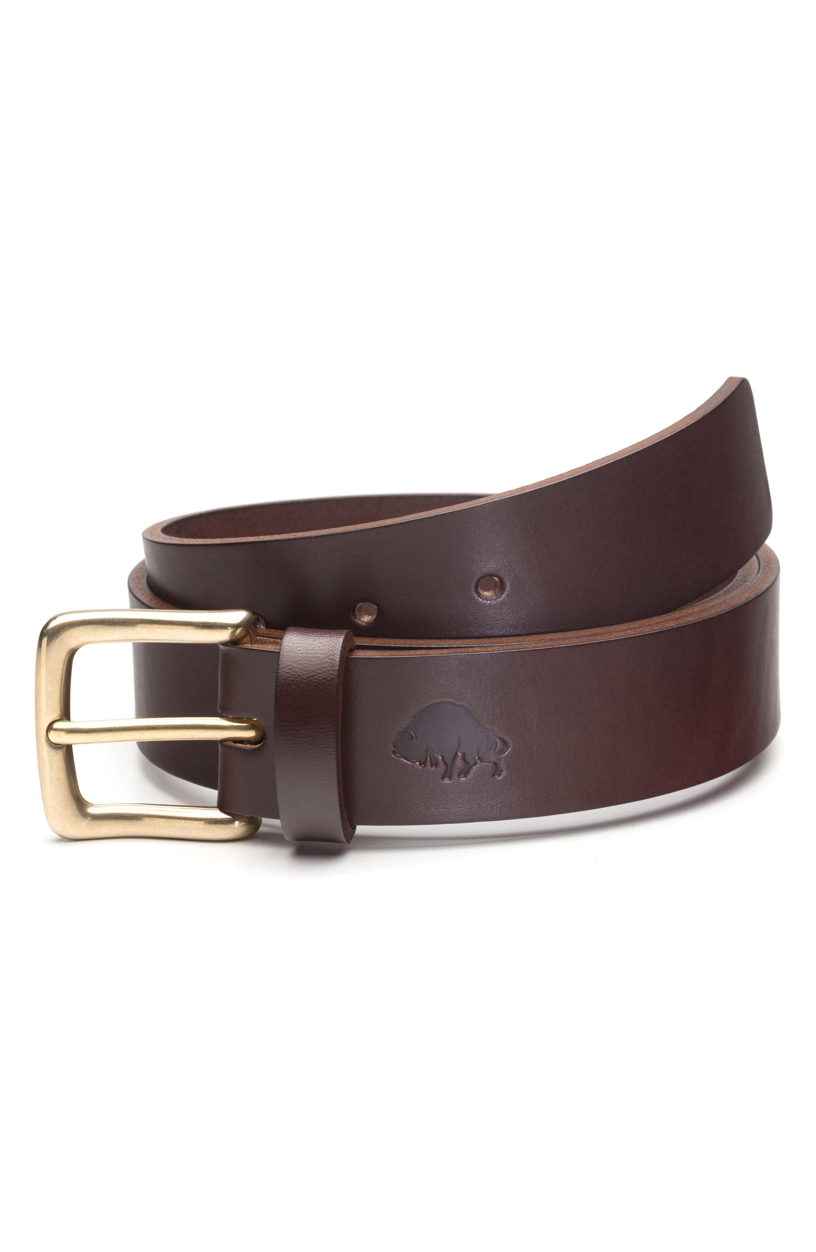 No. 1 Leather Belt,                             Main thumbnail 1, color,                             BROWN