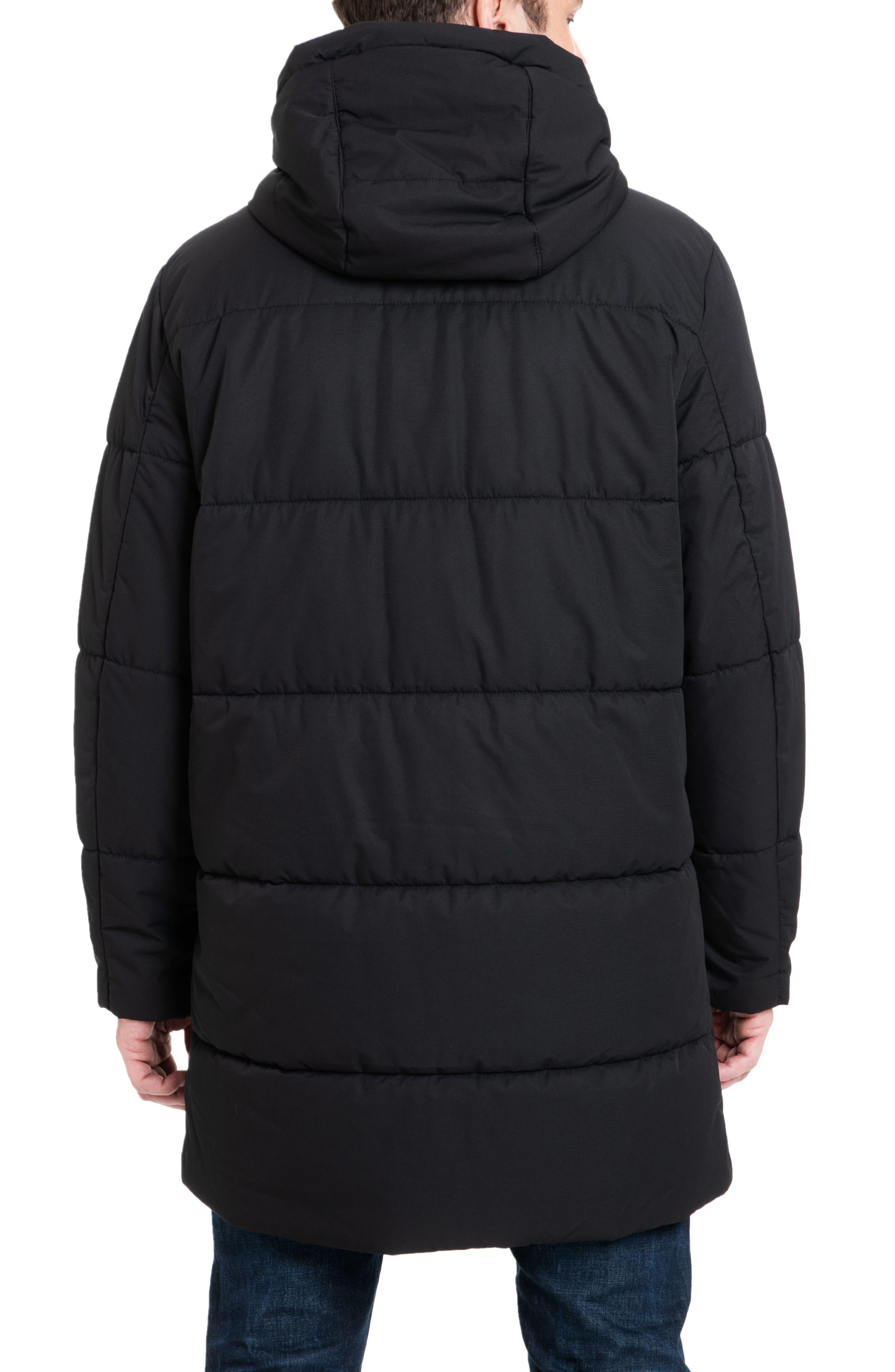 Holland Hooded Coat,                             Alternate thumbnail 2, color,                             BLACK