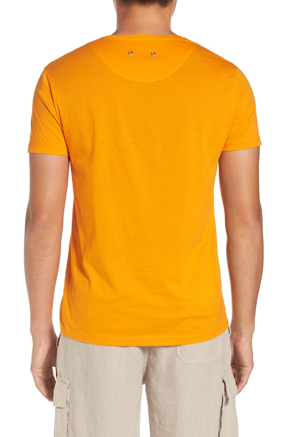 V-Neck T-Shirt,                             Alternate thumbnail 2, color,                             KUMQUAT