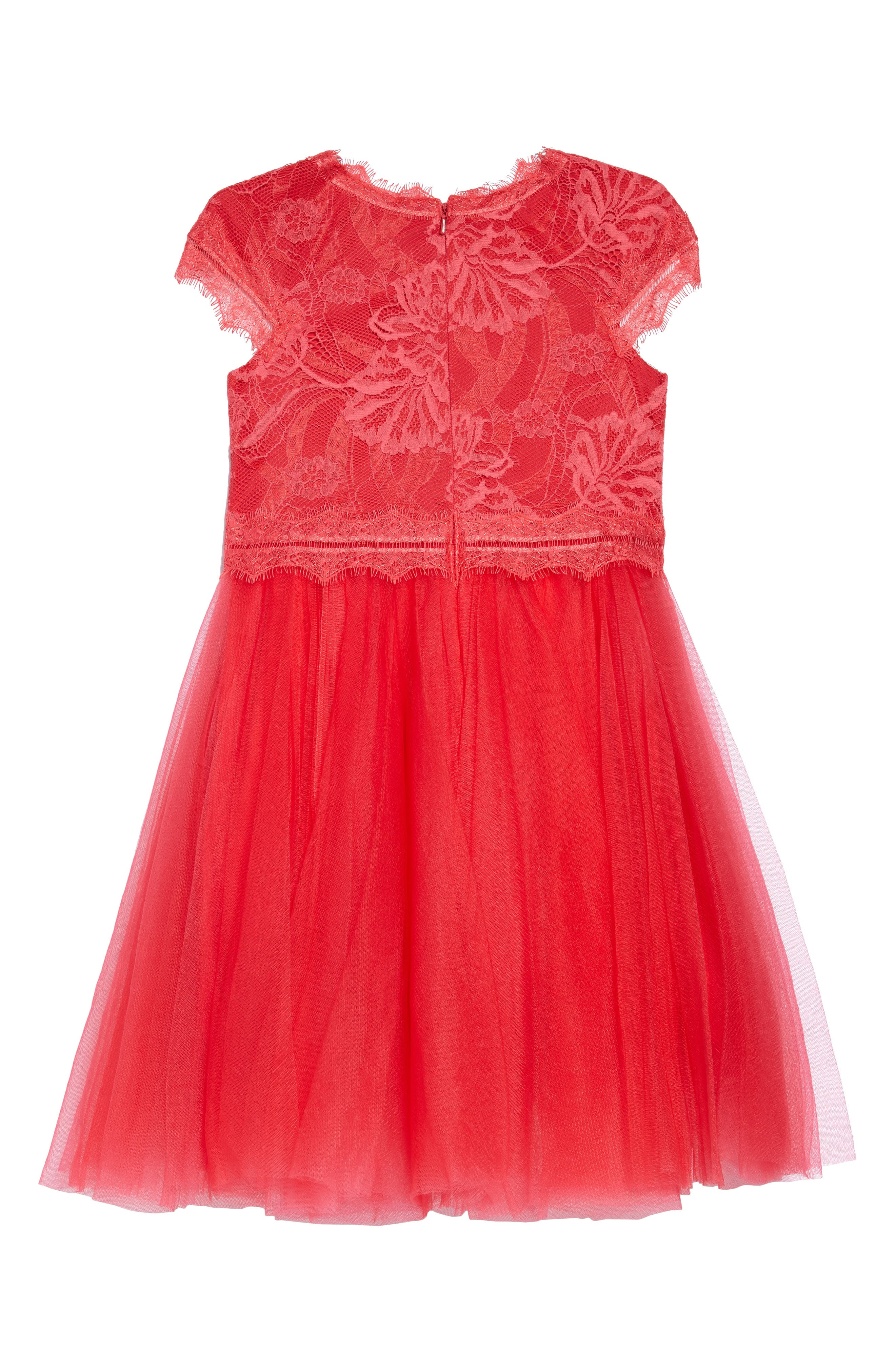 Floral Lace Tulle Dress,                             Alternate thumbnail 2, color,                             605