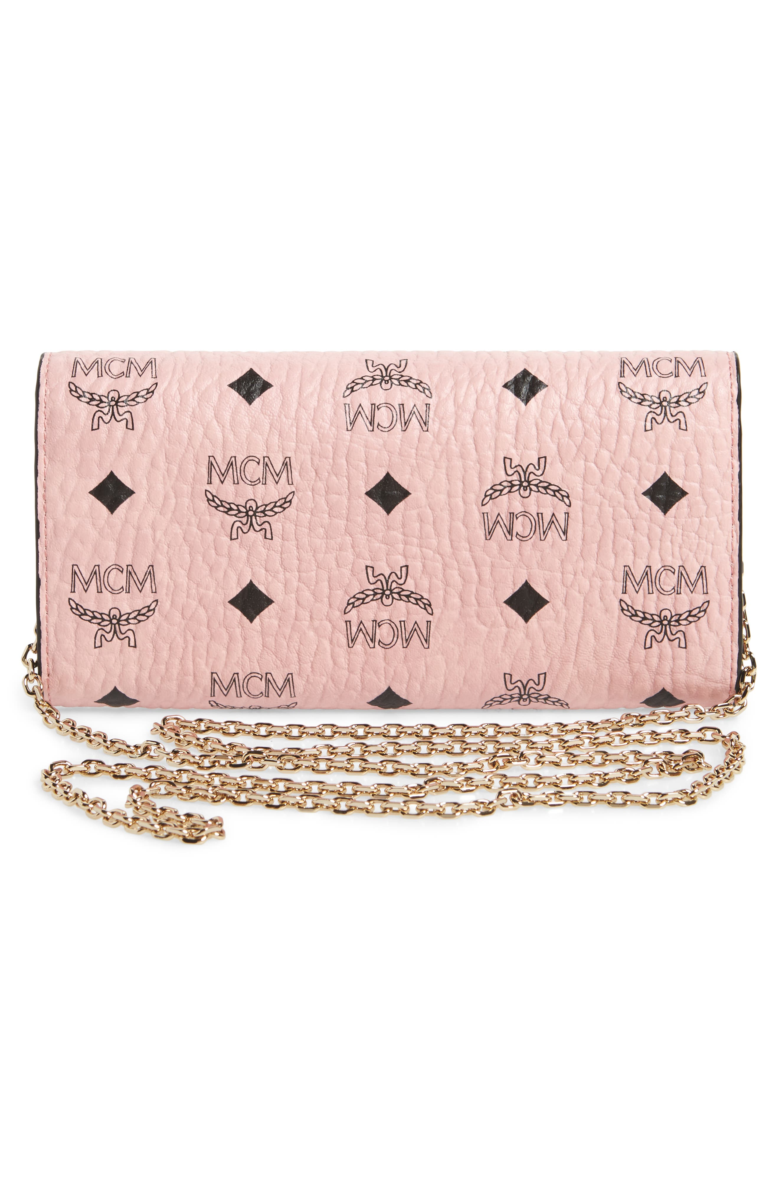 Large Patricia Visetos Canvas Wallet on a Chain,                             Alternate thumbnail 9, color,