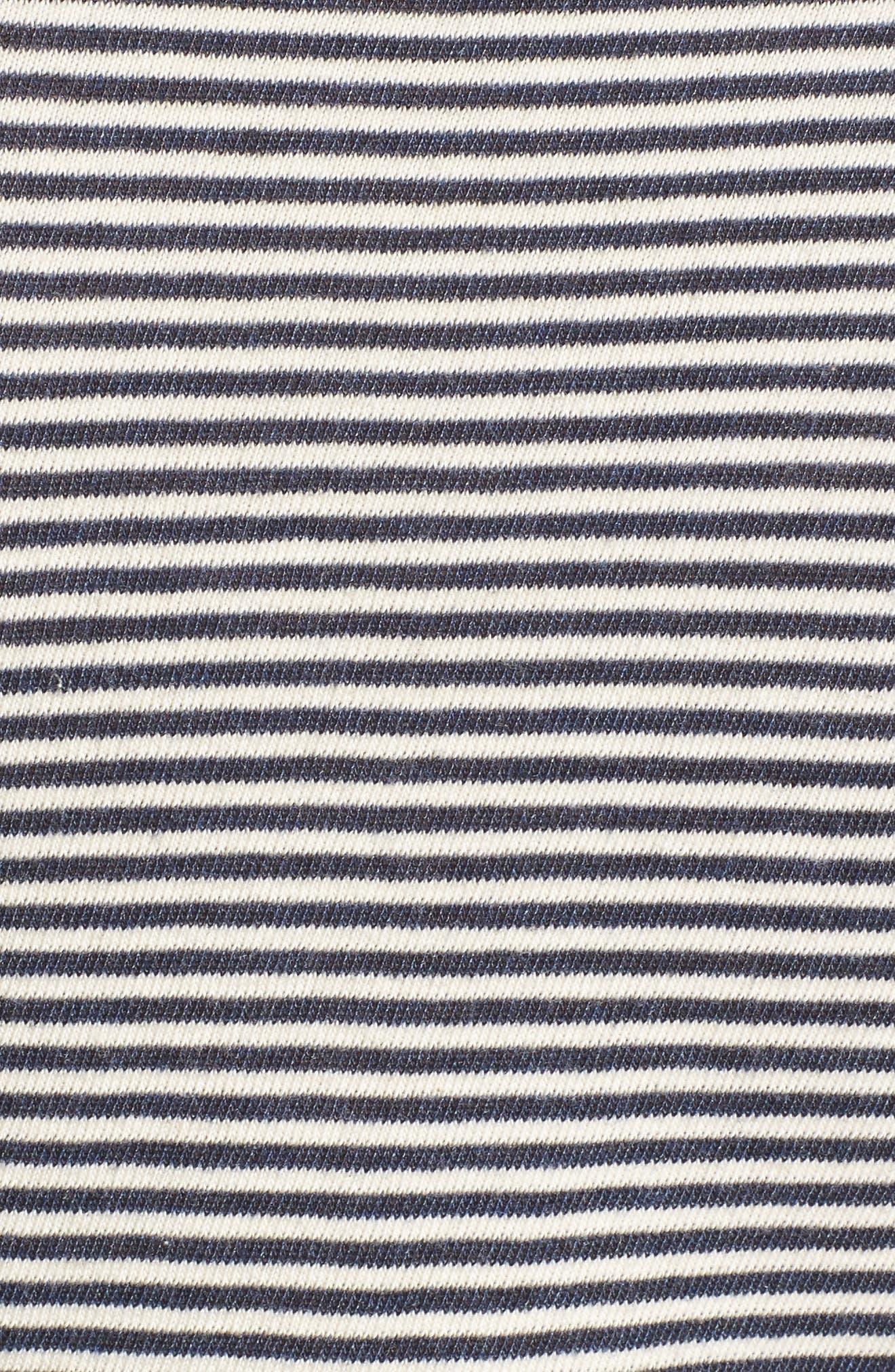 Stripe Ruffle Dress,                             Alternate thumbnail 5, color,                             409