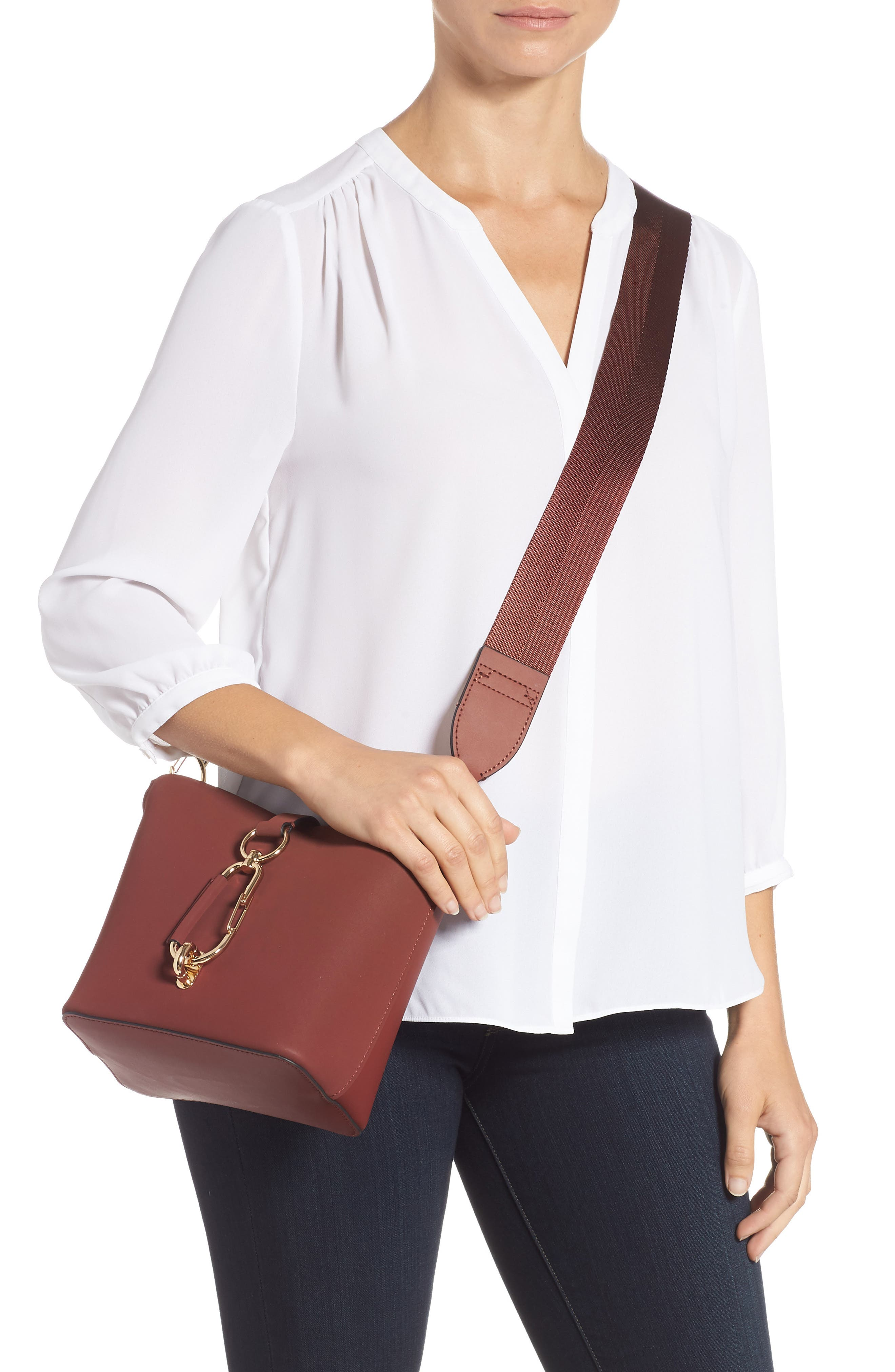 Small Belay Leather Hobo Bag,                             Alternate thumbnail 2, color,                             SMOKED MERLOT