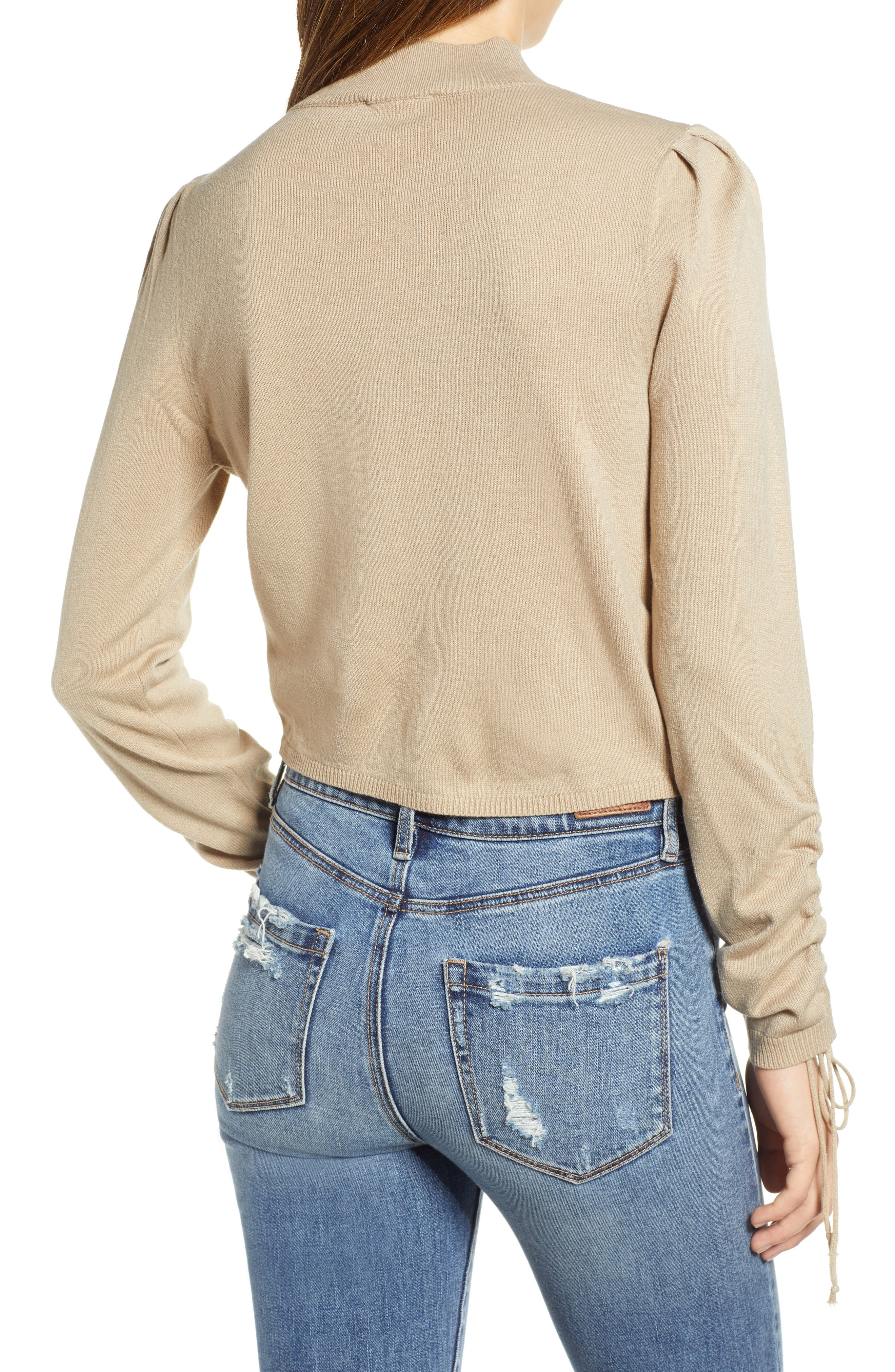 Ruched Front Sweater,                             Alternate thumbnail 2, color,                             250