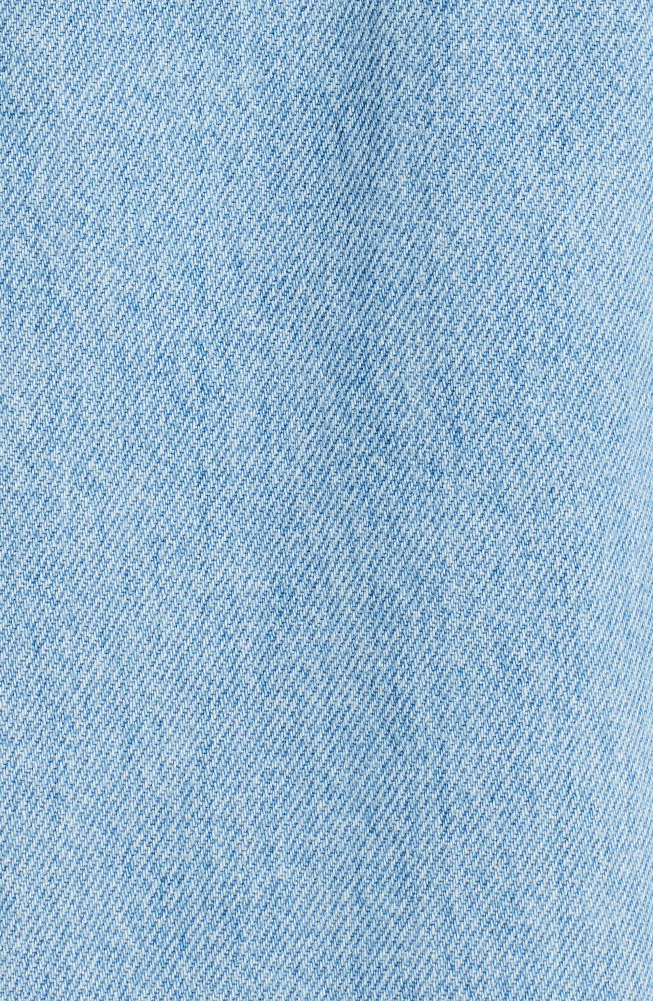 Zip Front Denim Jacket,                             Alternate thumbnail 5, color,                             482