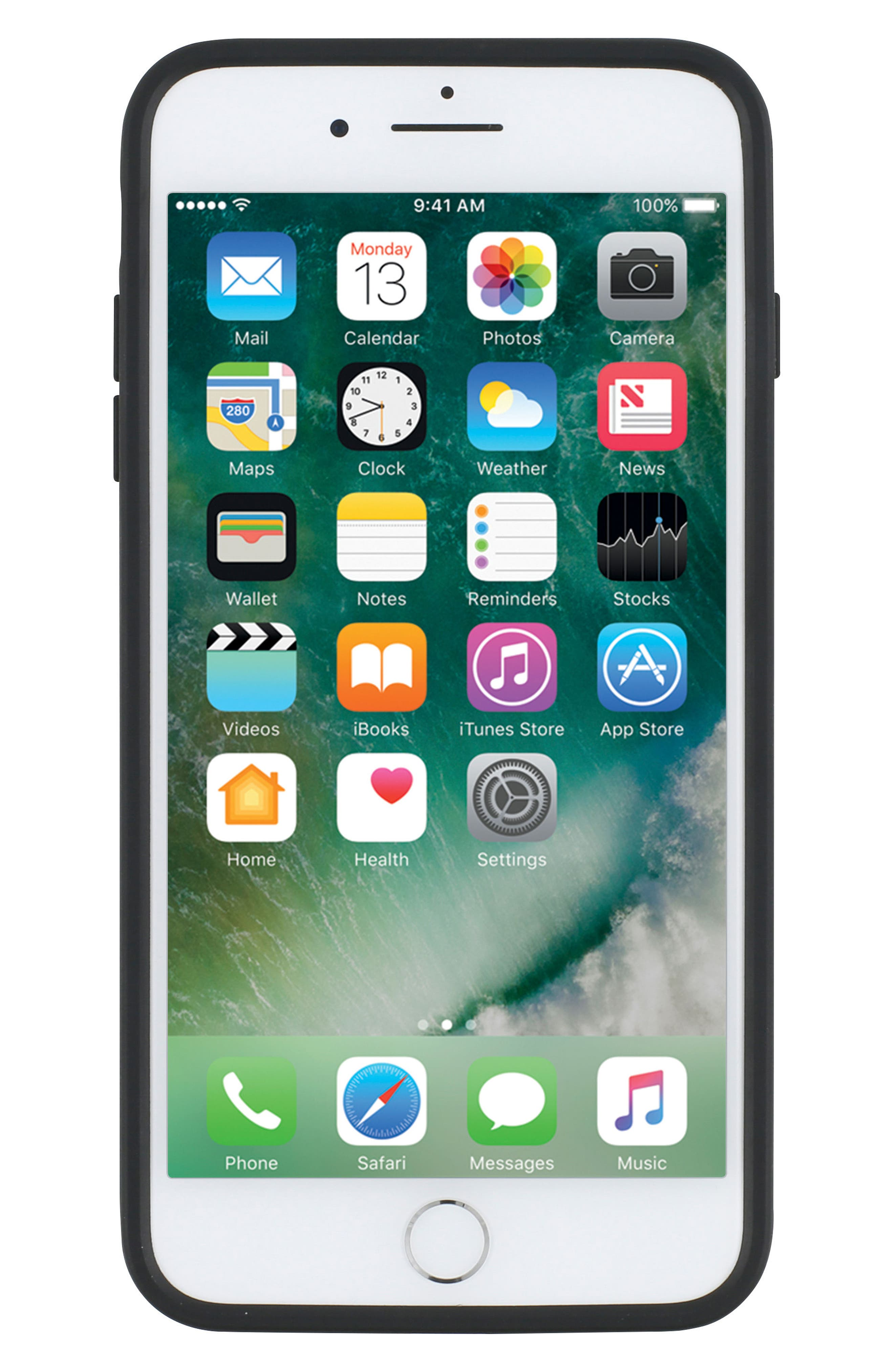 Leather iPhone 8 Plus Case,                             Alternate thumbnail 6, color,