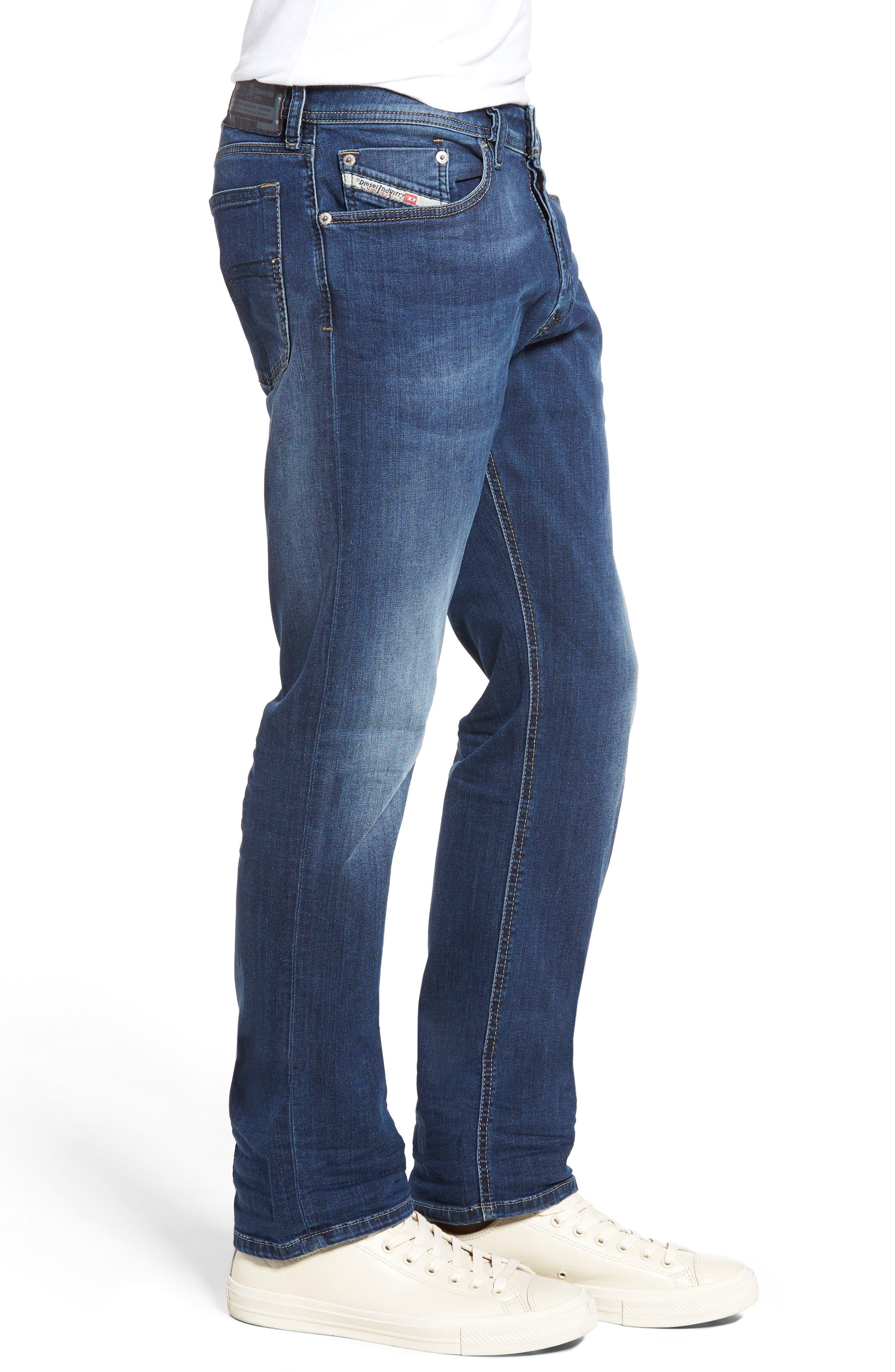 Waykee Straight Leg Jeans,                             Alternate thumbnail 3, color,                             400
