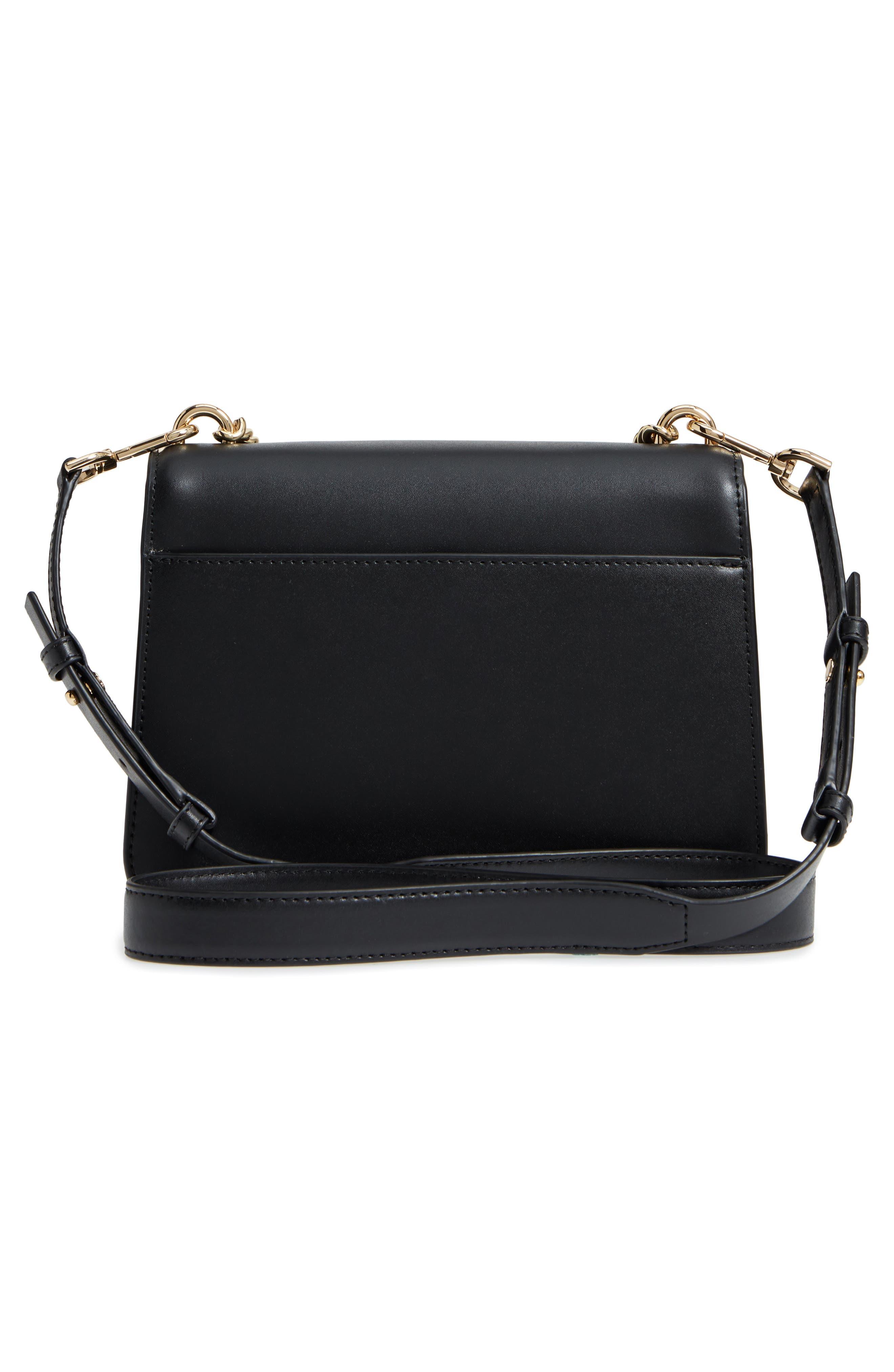 Large Mott Chain Swag Leather Shoulder Bag,                             Alternate thumbnail 3, color,                             001
