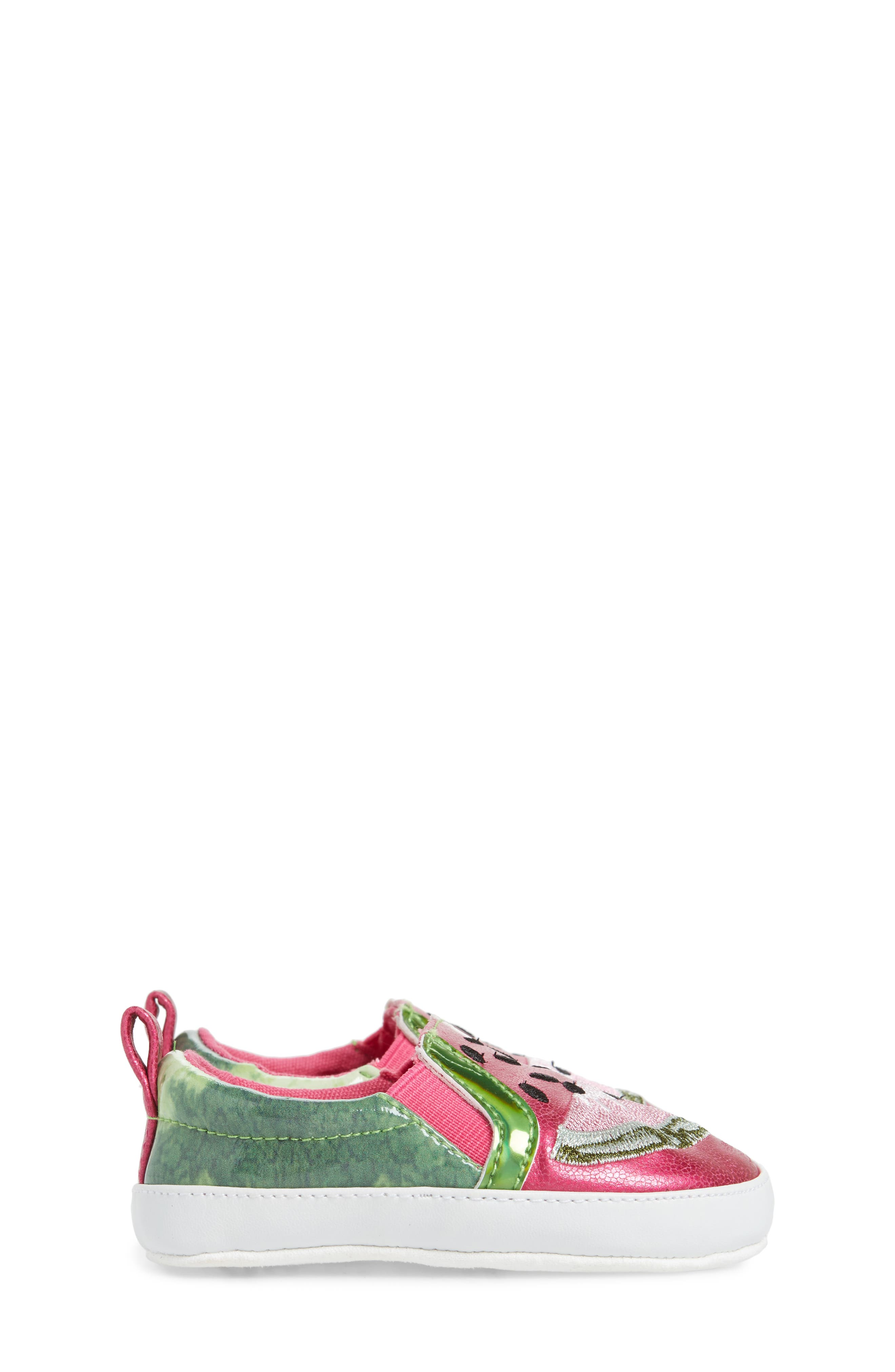 Baby Blane Watermelon Sneaker,                             Alternate thumbnail 4, color,                             653