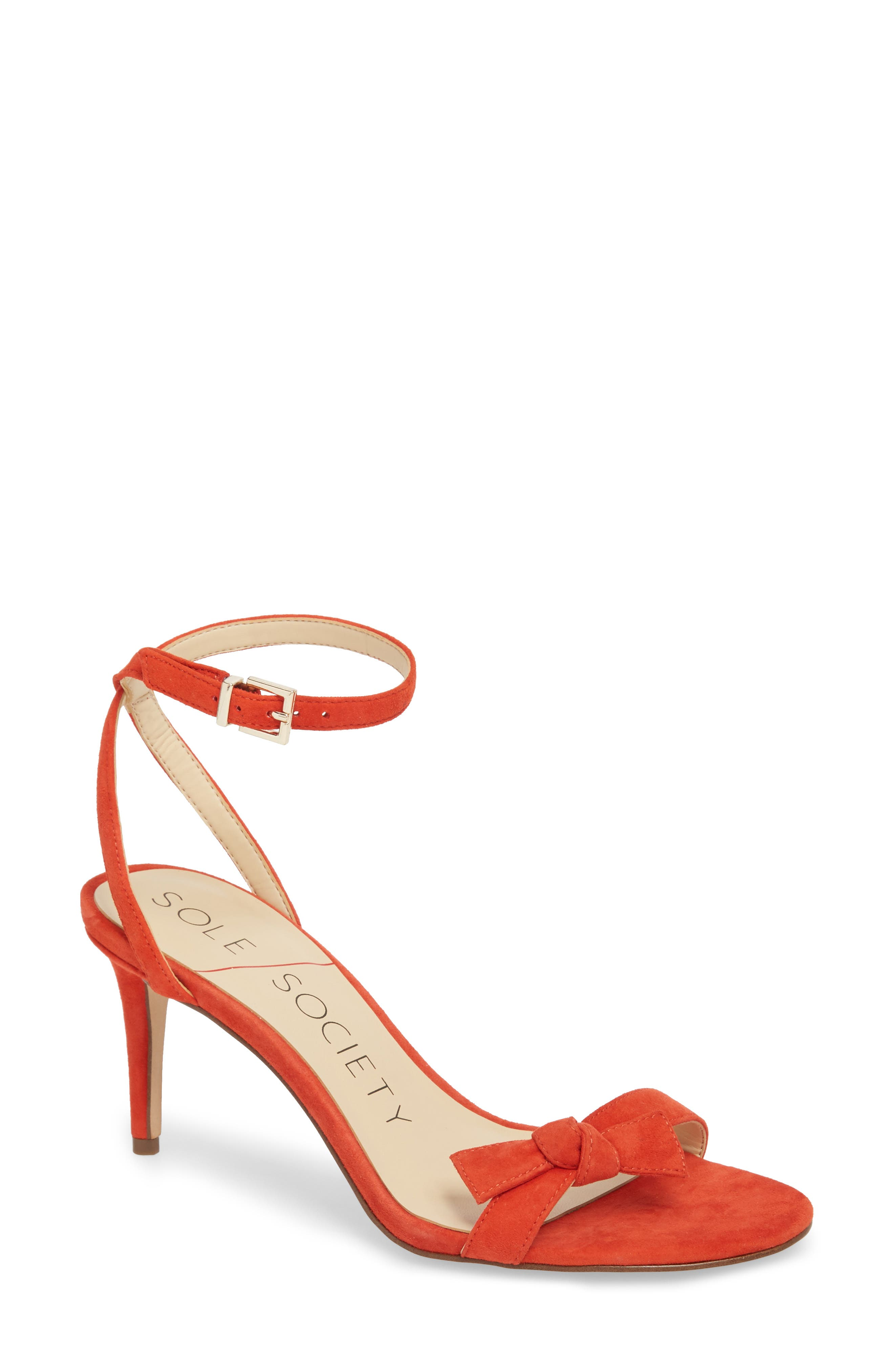 Sole Society Avrilie Knotted Sandal, Coral