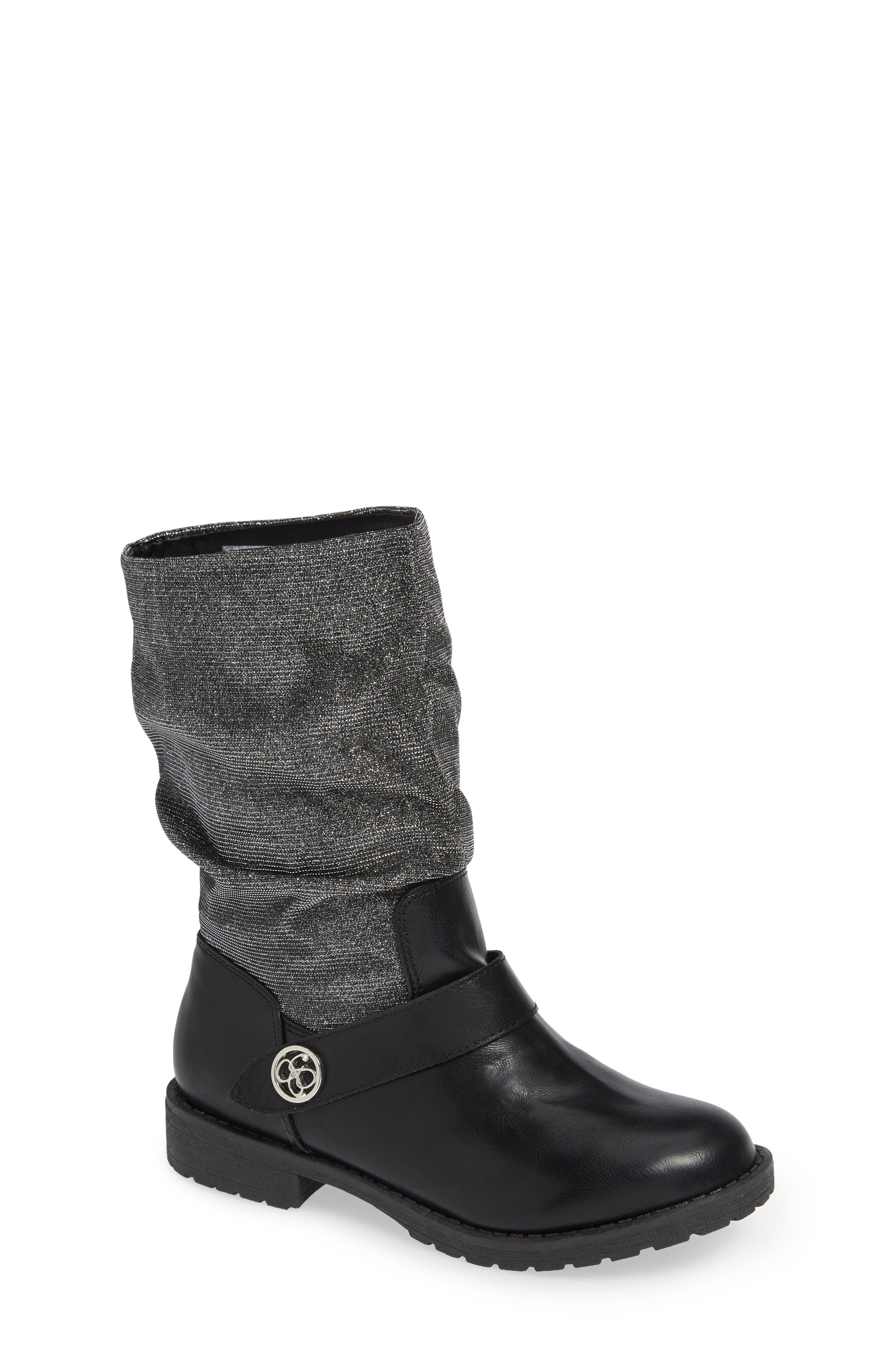 Slouchy Boot,                         Main,                         color, BLACK