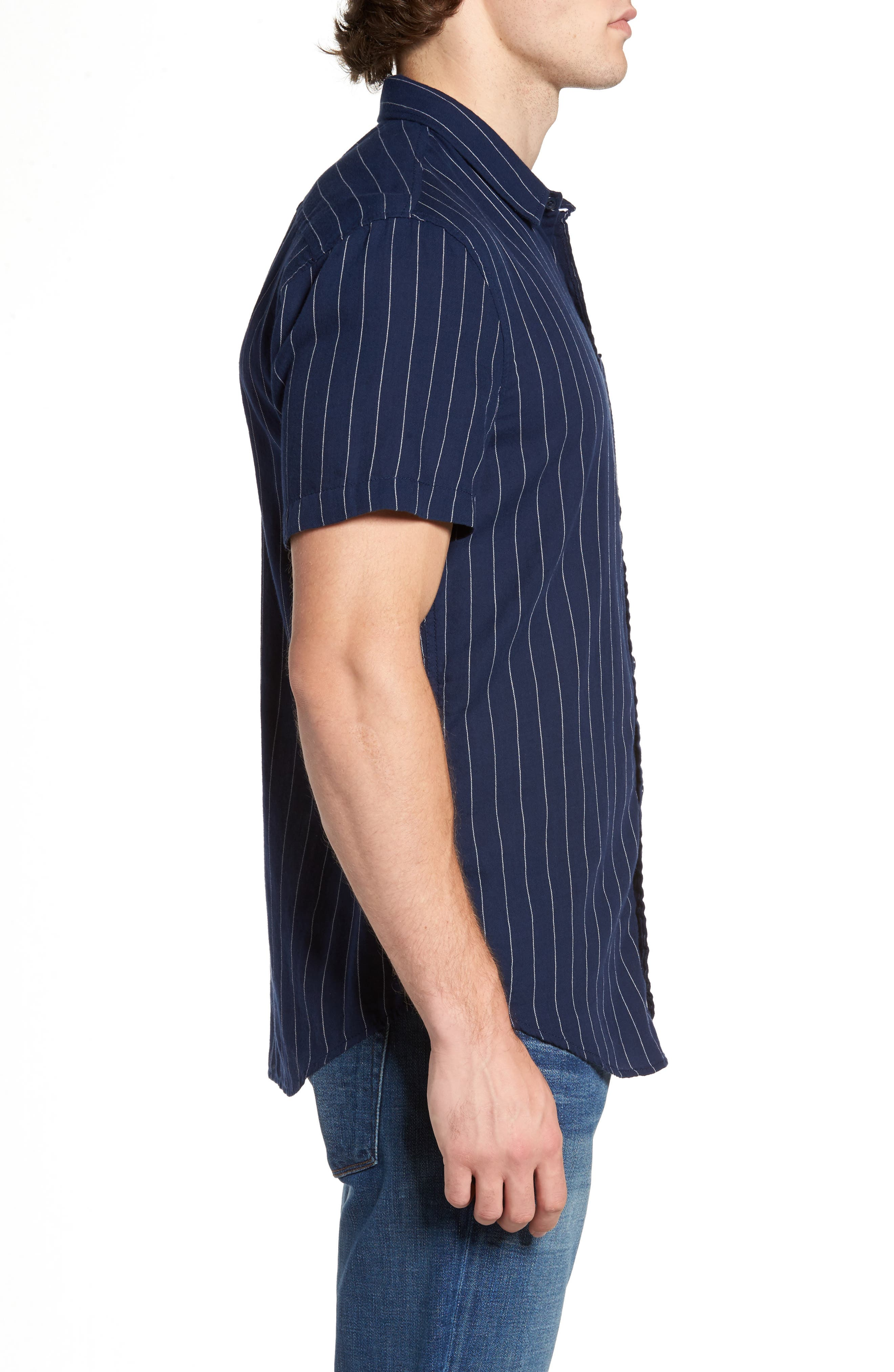 Stripe Twill Shirt,                             Alternate thumbnail 3, color,                             410