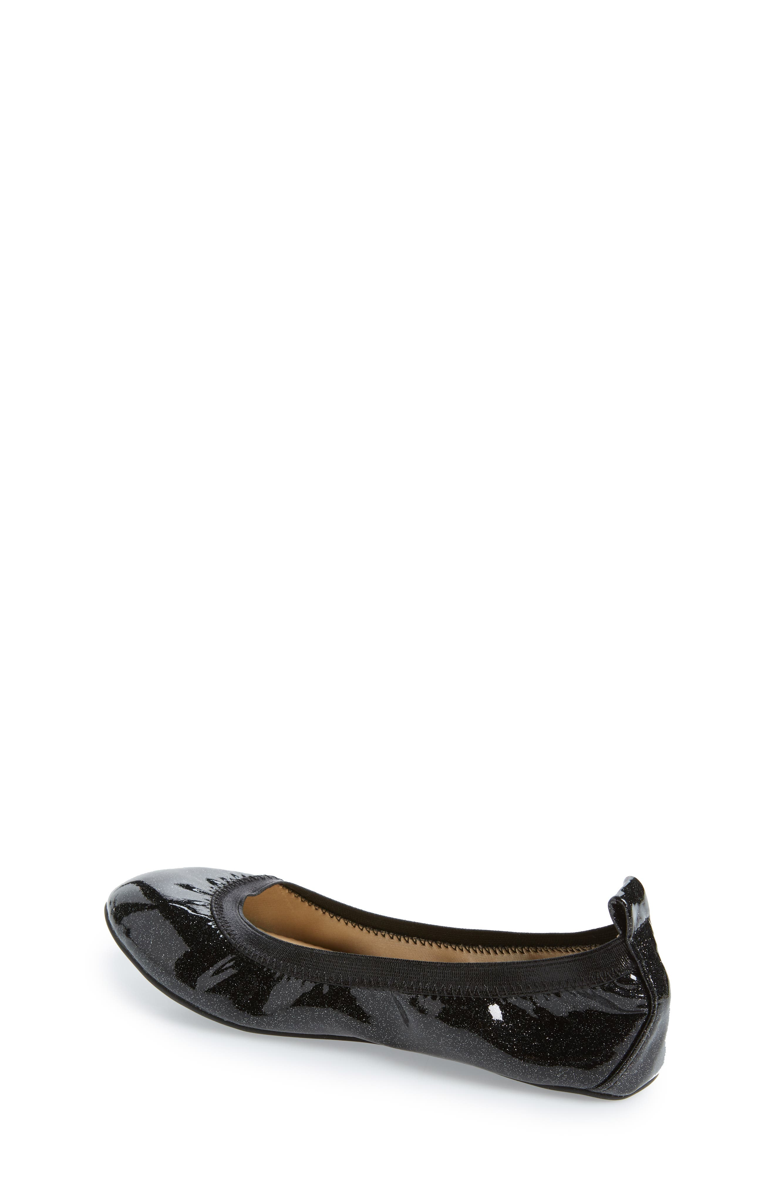 Miss Samara Ballet Flat,                             Alternate thumbnail 2, color,                             BLACK PATENT GLITTER