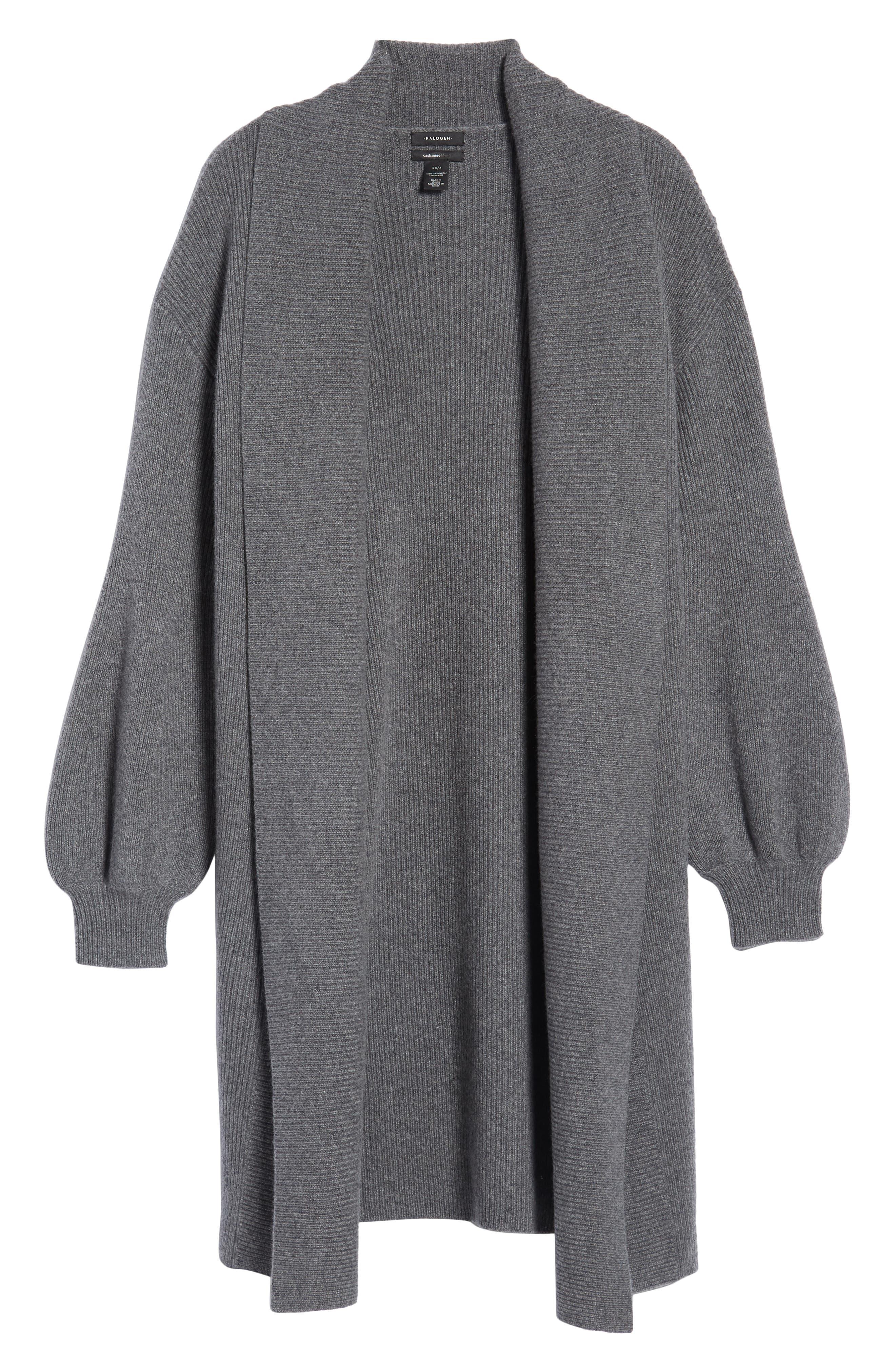 Blouson Sleeve Long Cashmere Cardigan,                             Alternate thumbnail 6, color,                             032